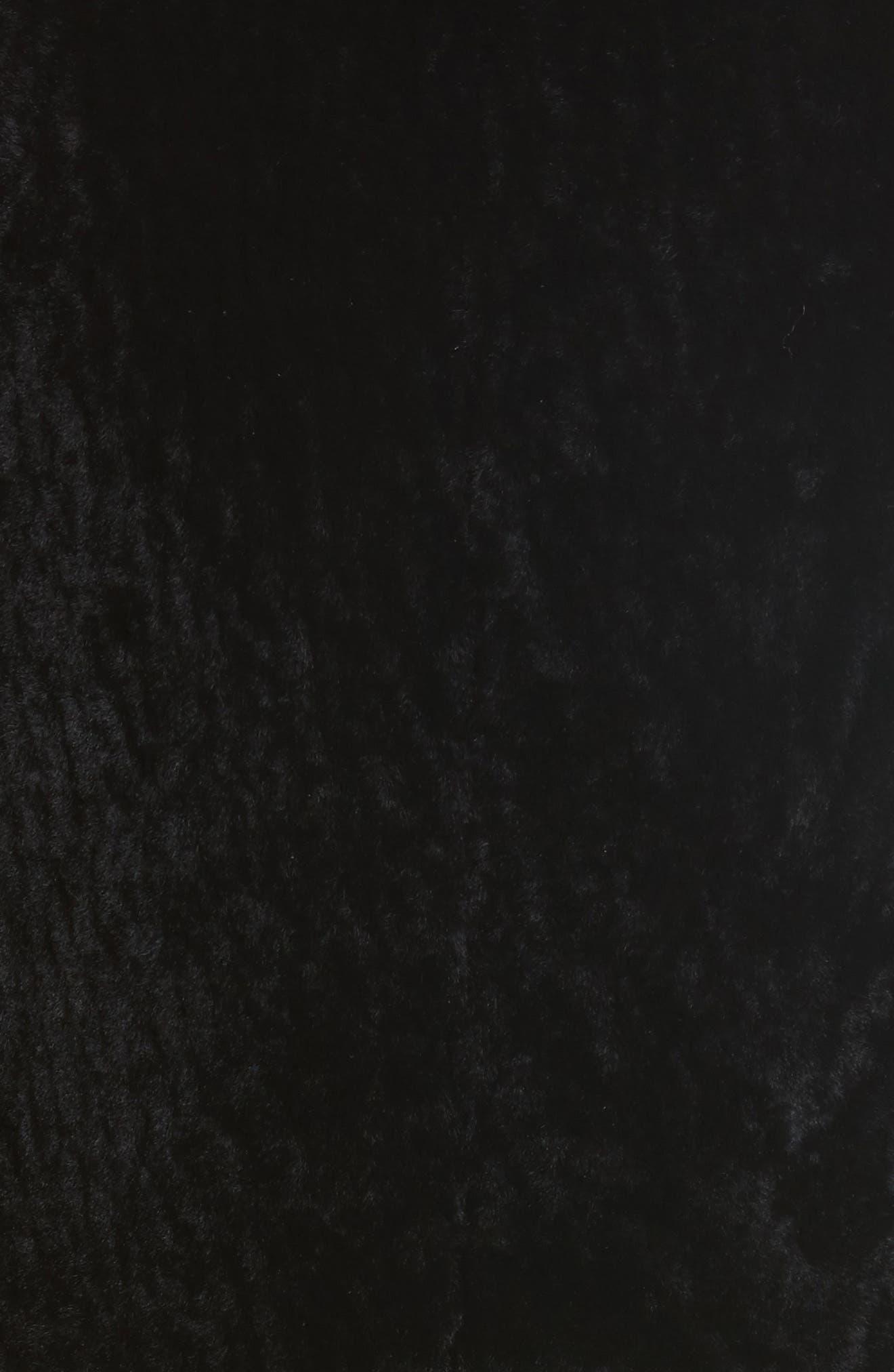 Genuine Shearling Jacket,                             Alternate thumbnail 5, color,                             Black