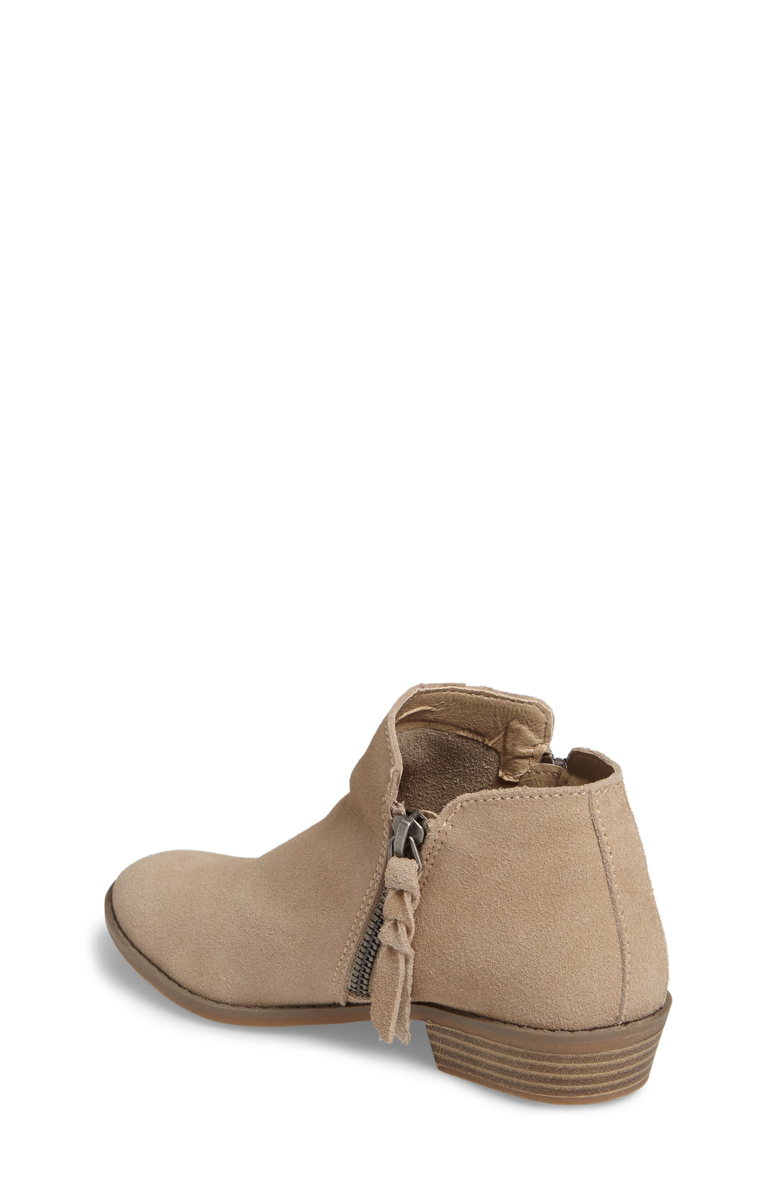 Sia Double-Zip Bootie,                             Alternate thumbnail 2, color,                             Sand Suede