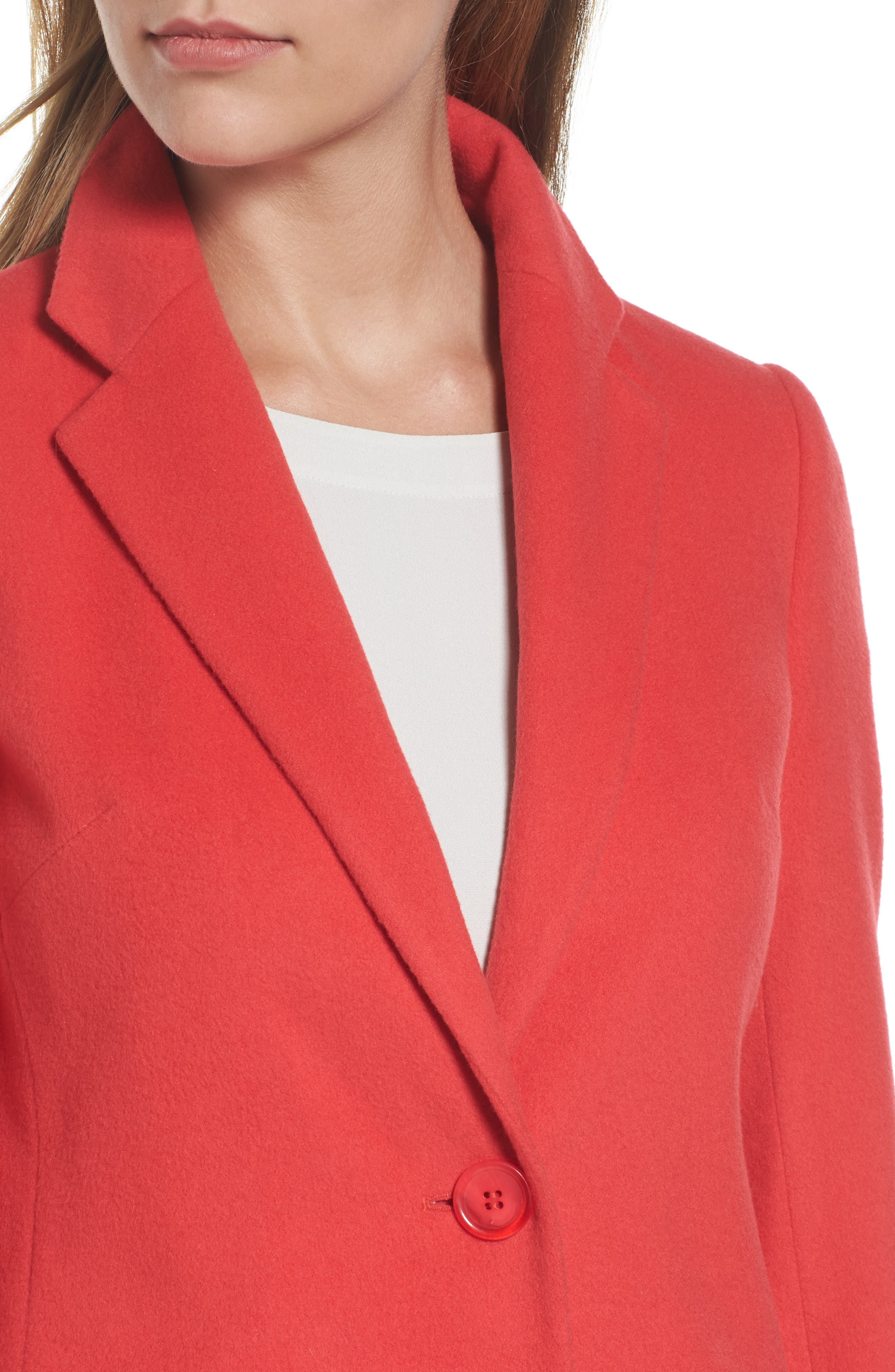 Charles Gray London Wool Blend College Coat,                             Alternate thumbnail 5, color,                             Coral