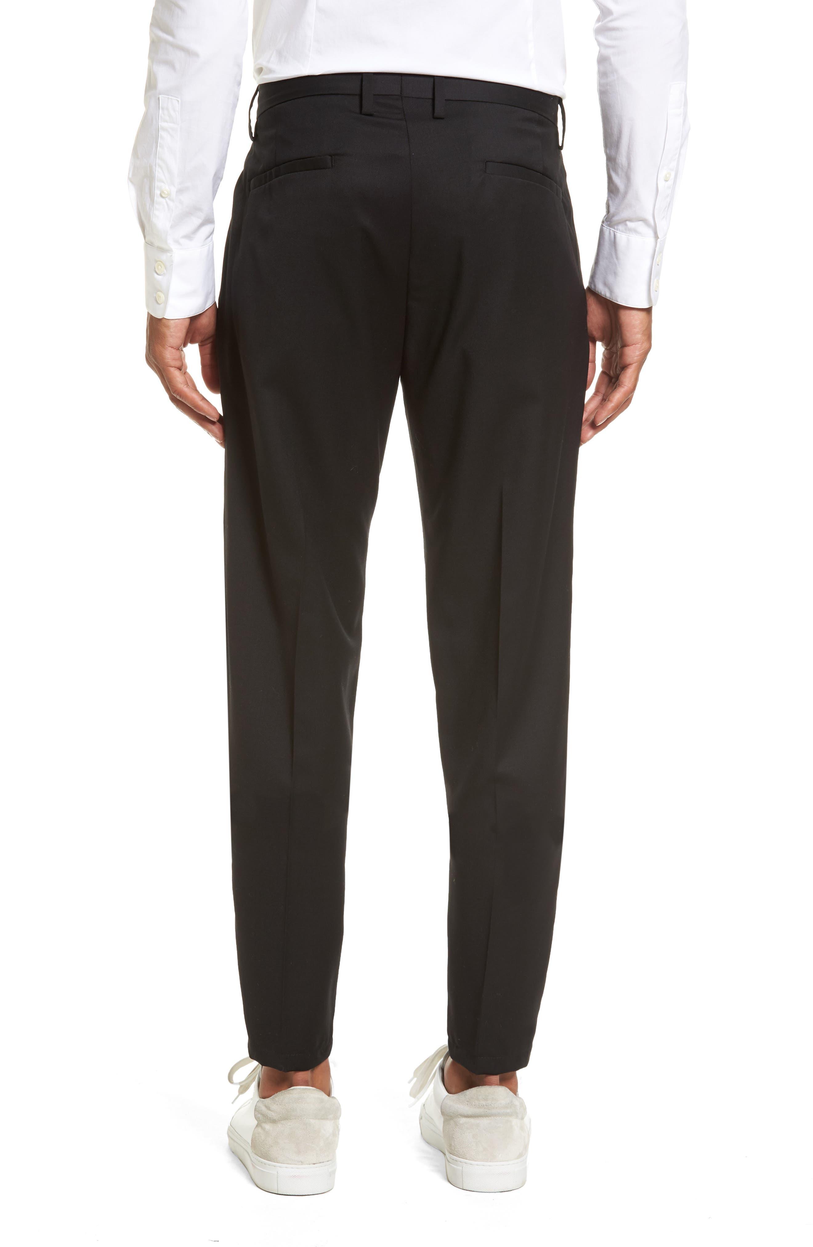 Slim Wool Trousers,                             Alternate thumbnail 2, color,                             Black Caviar