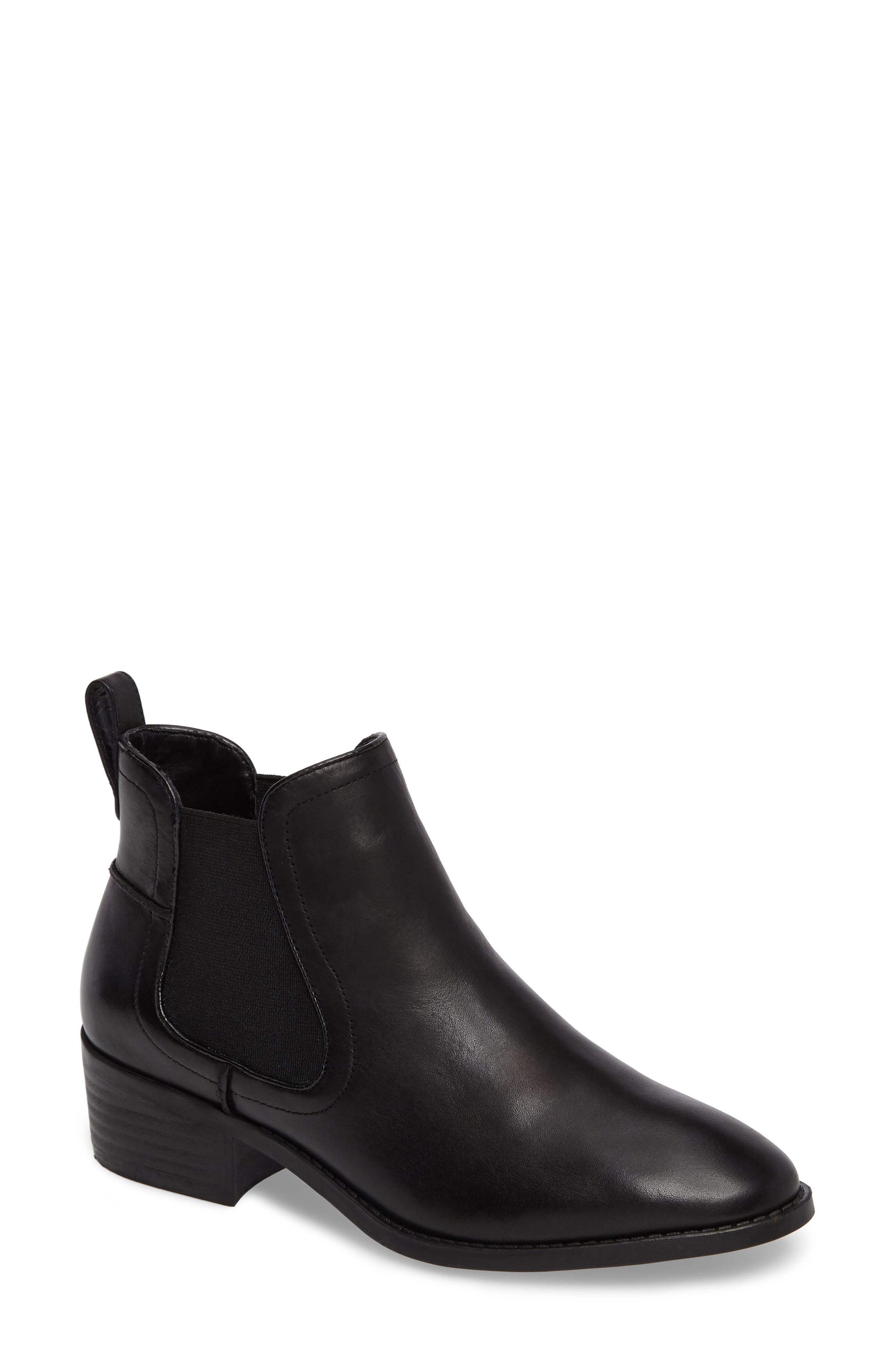 Dicey Chelsea Boot,                             Main thumbnail 1, color,                             Black Leather