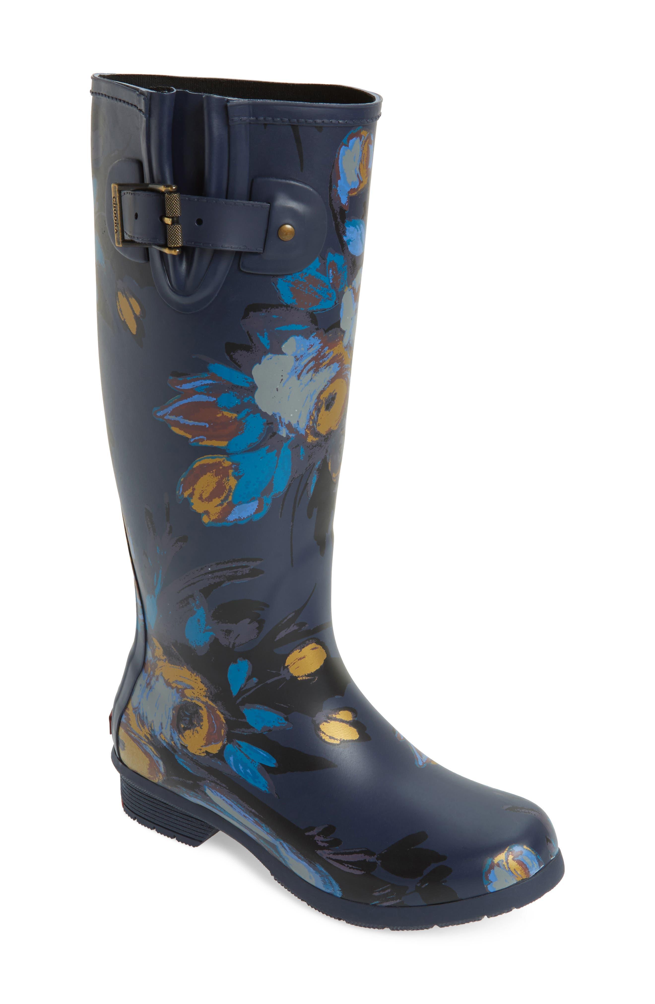 CHOOKA Nina Floral Mid Calf Rain Boot