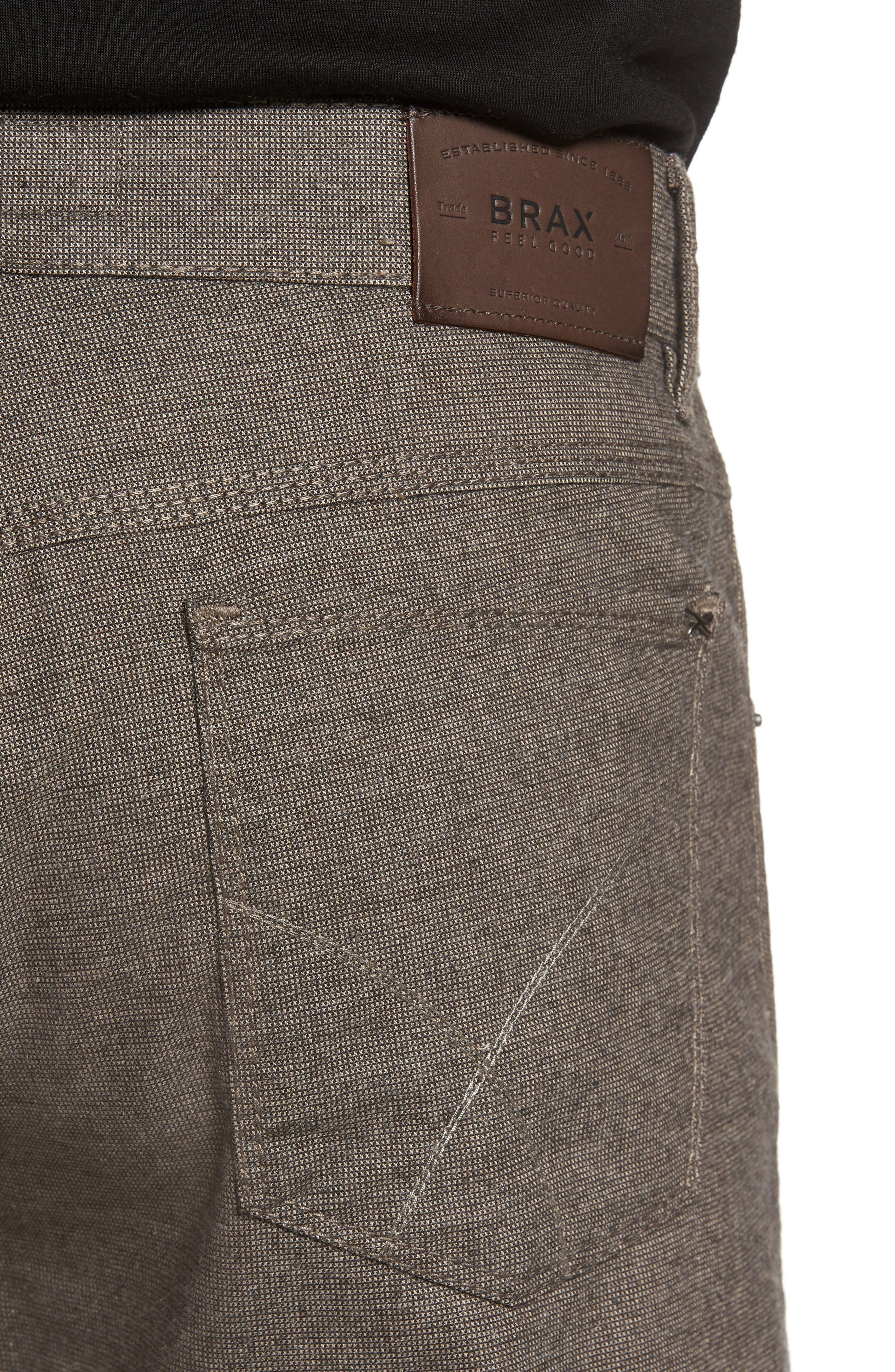 Alternate Image 4  - Brax Five-Pocket Stretch Cotton Trousers