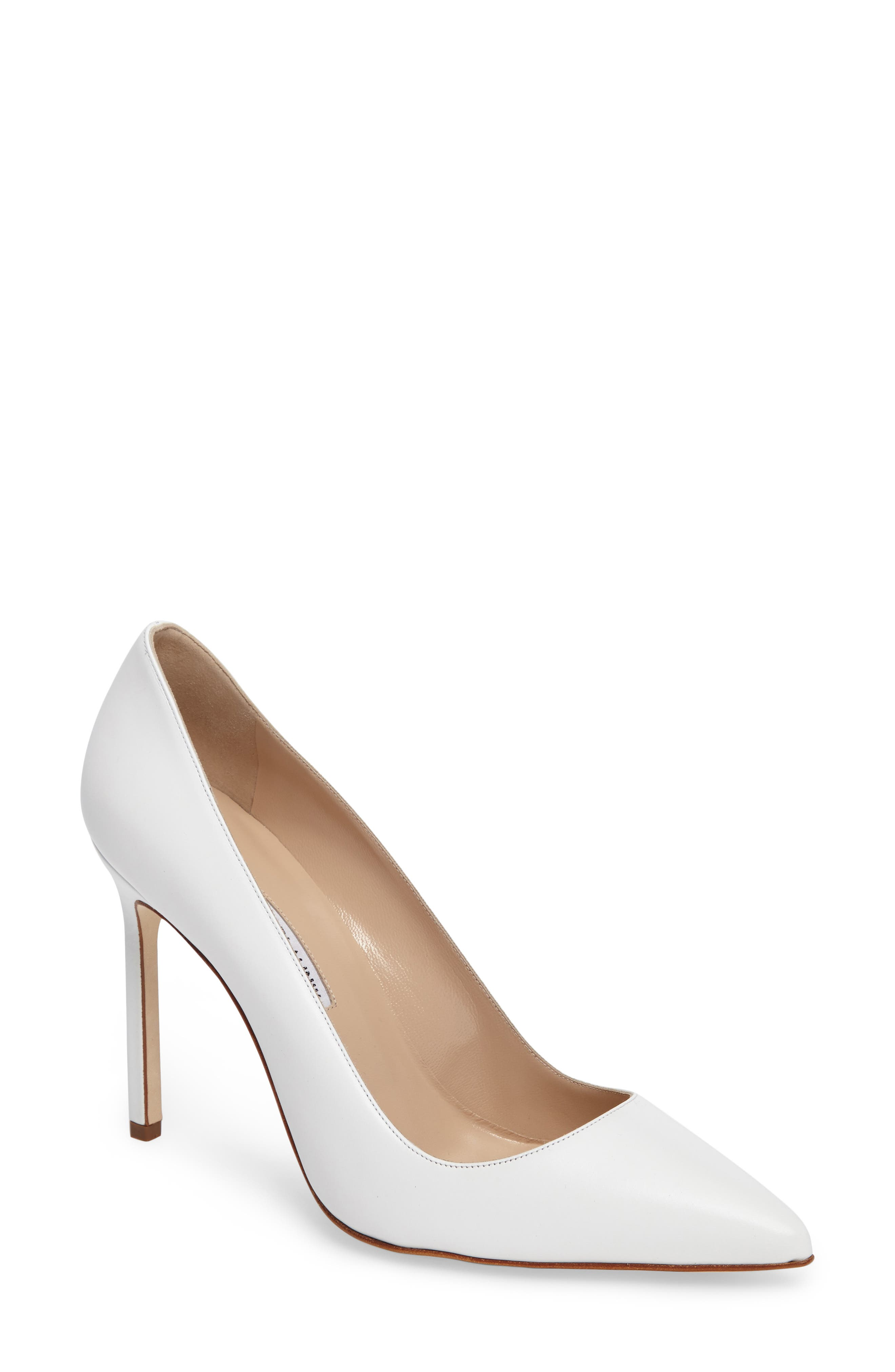 Closed Toe White Heels W5h4fHOy