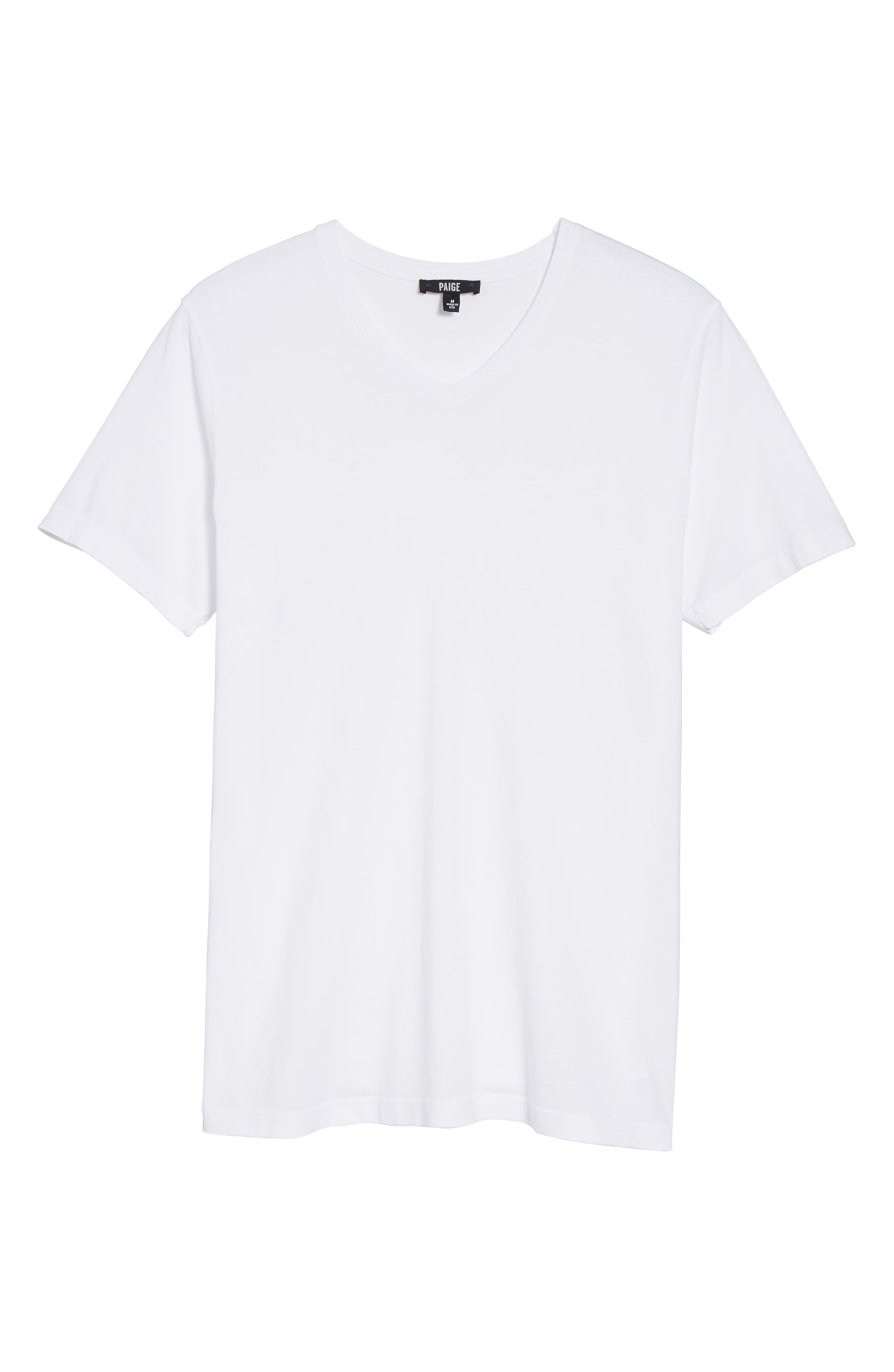 Grayson V-Neck T-Shirt,                             Alternate thumbnail 5, color,                             White