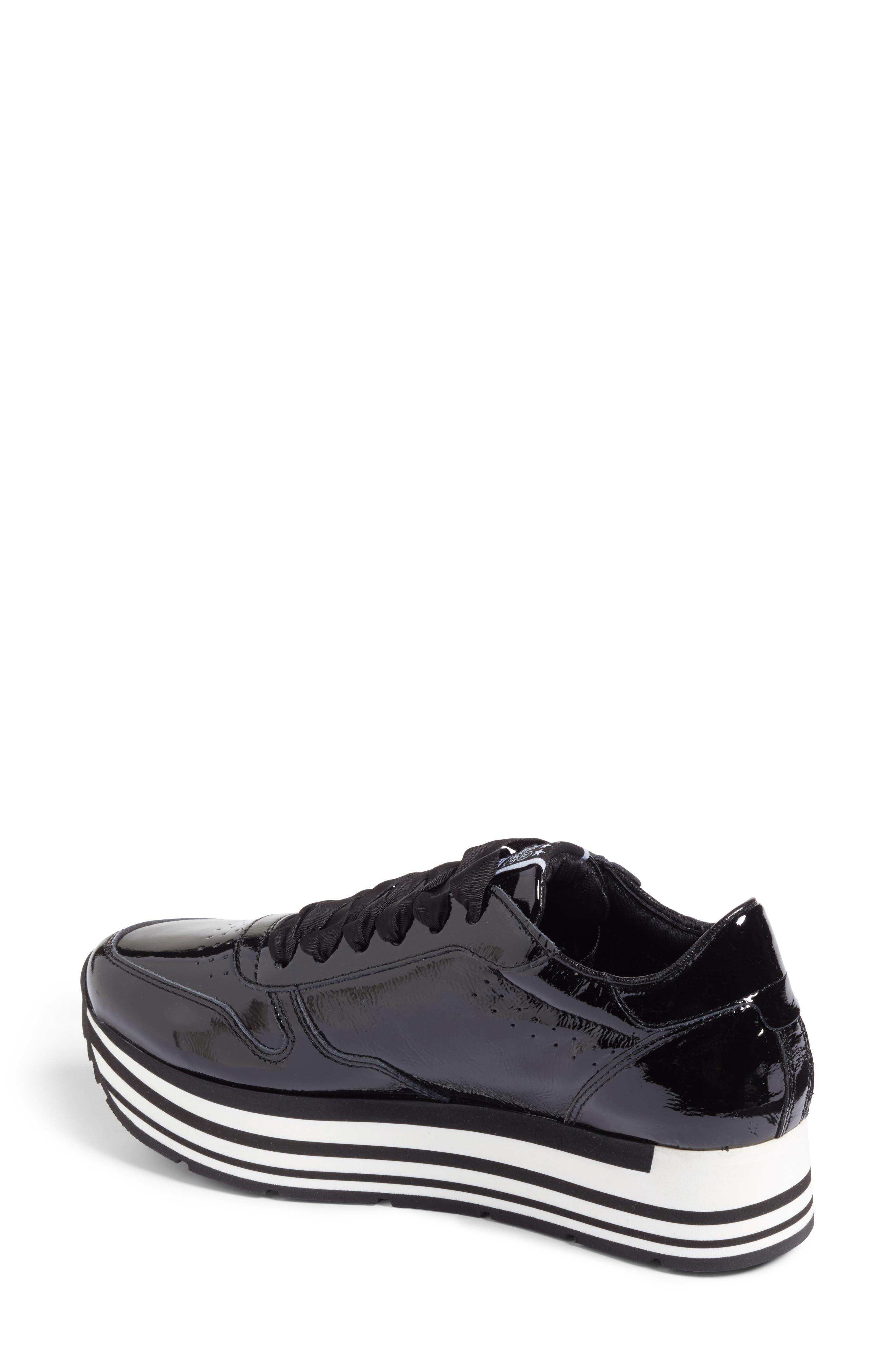 Kennel & Schmenger Nova Patent Leather Sneaker,                             Alternate thumbnail 2, color,                             Black