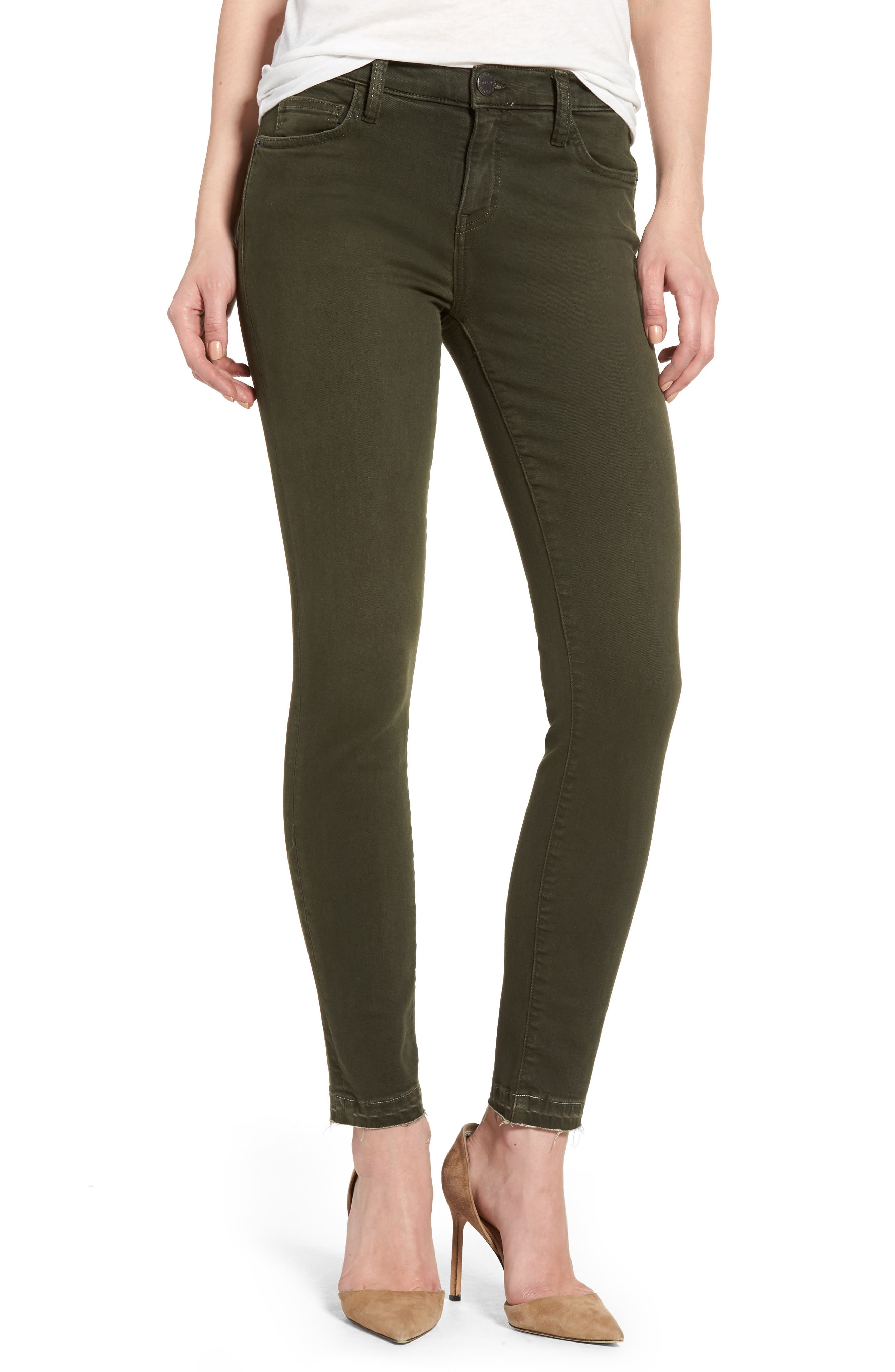 The Stiletto Ankle Skinny Jeans,                         Main,                         color, Forest Night