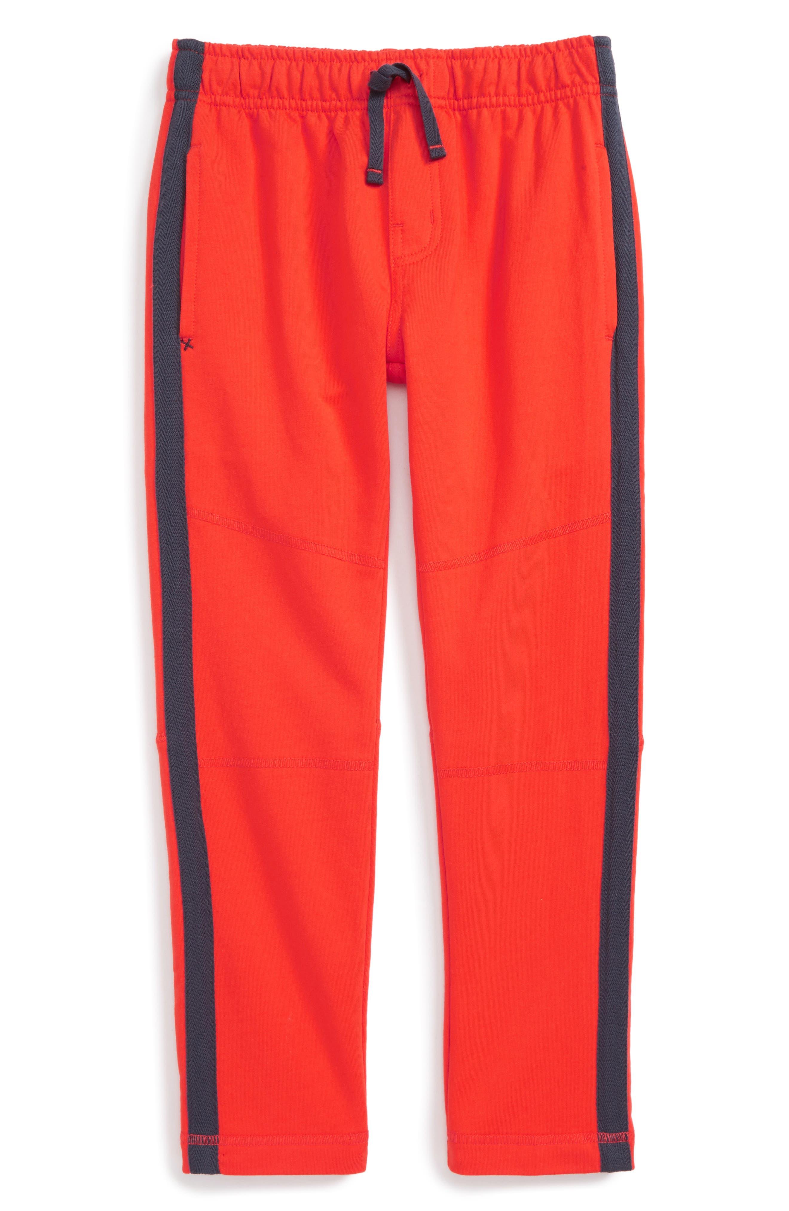 Side Stripe Knit Pants,                         Main,                         color, Vermillion