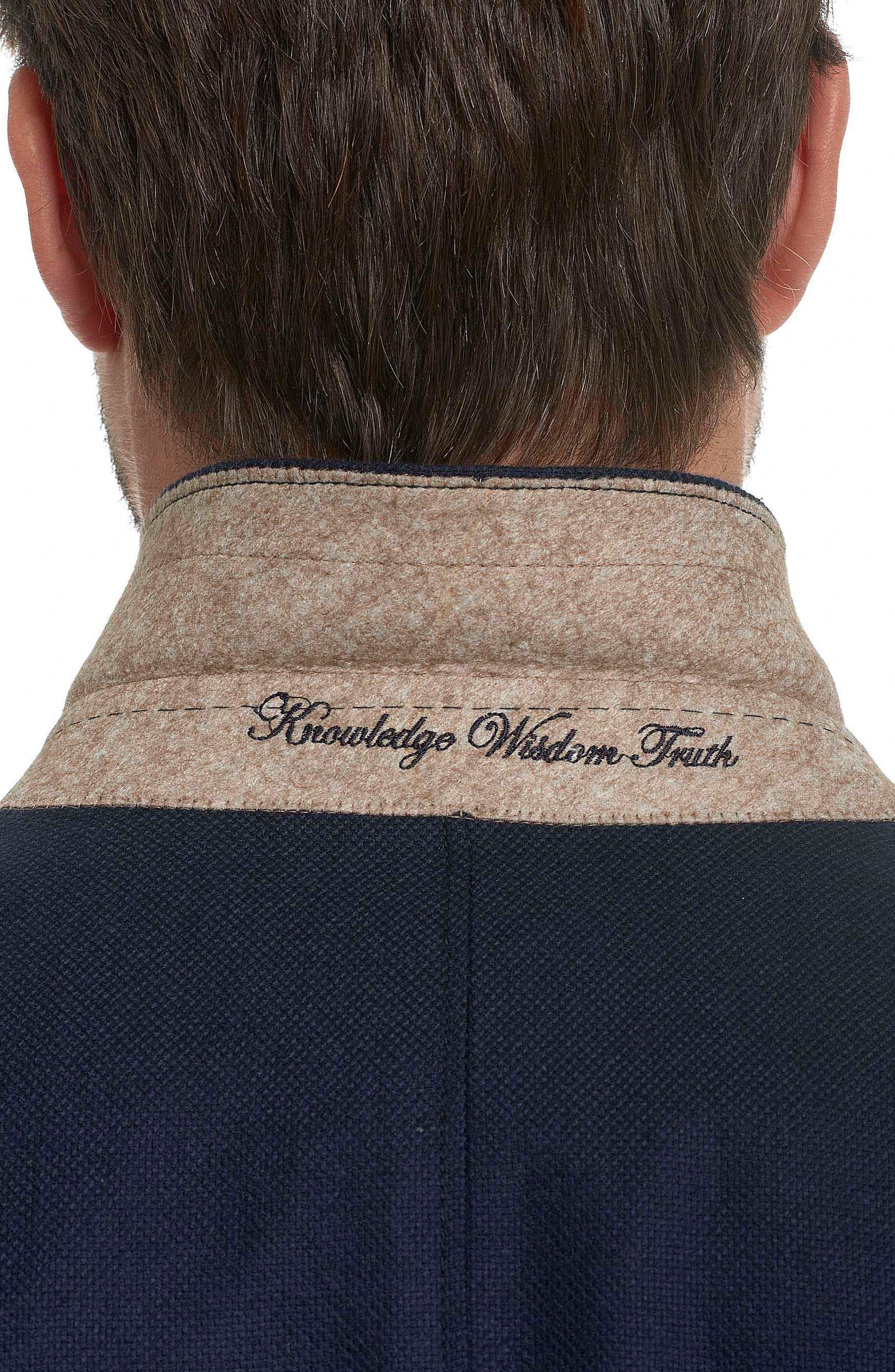 Newburgh Classic Fit Cashmere Sport Coat,                             Alternate thumbnail 3, color,                             Navy