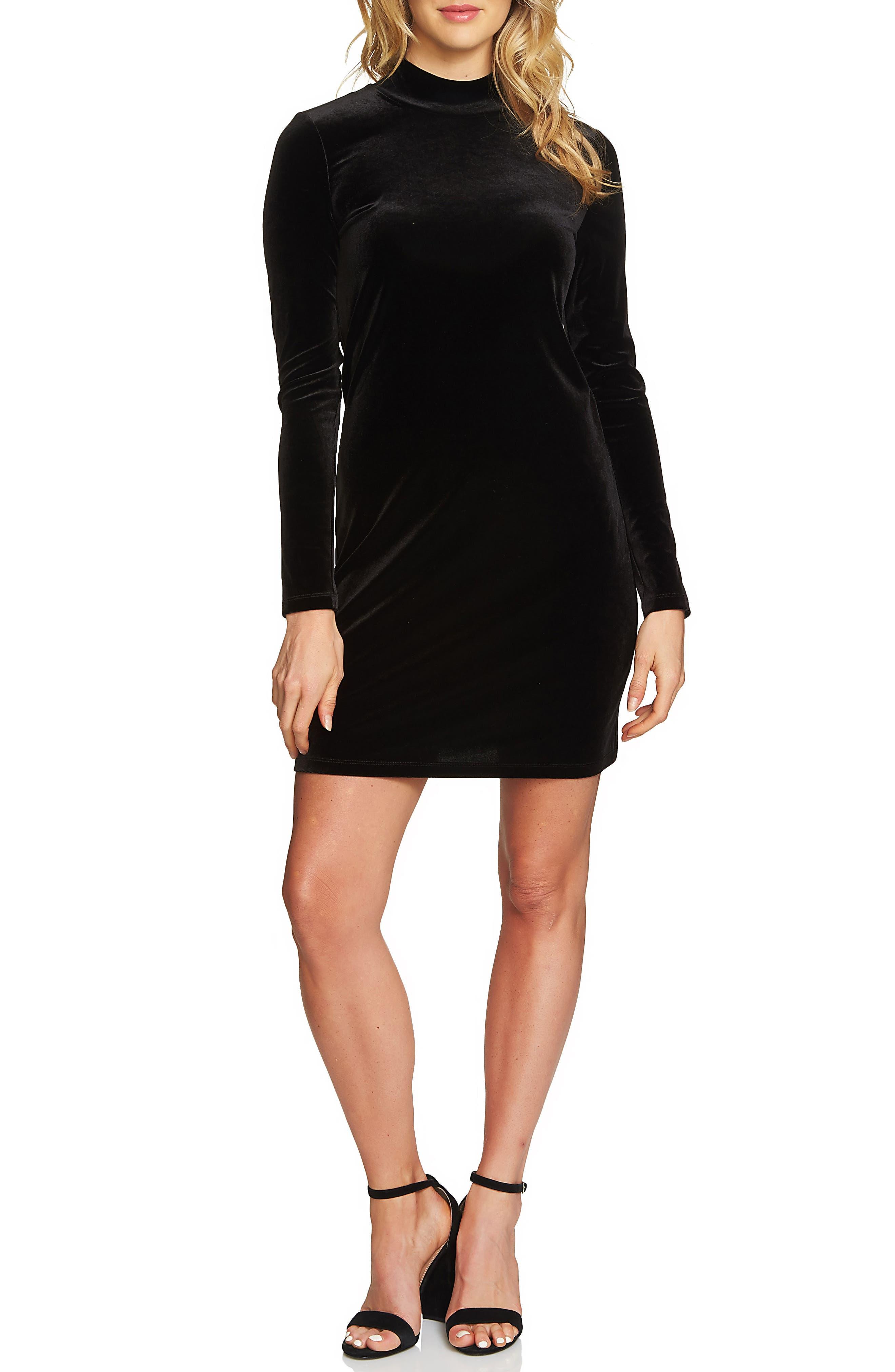 1.STATE Velvet Sheath Dress