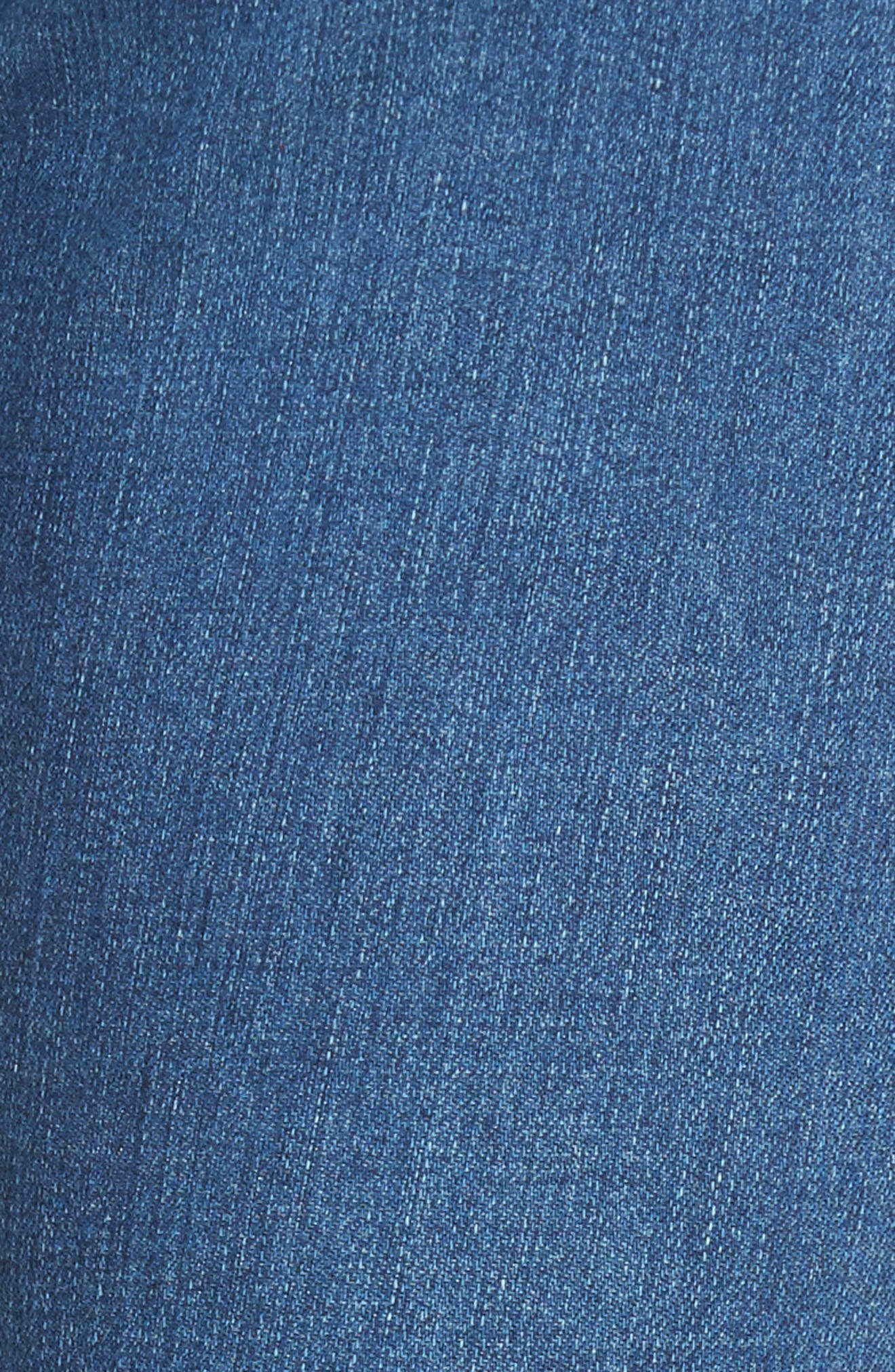 The Farrah High Waist Ankle Skinny Jeans,                             Alternate thumbnail 6, color,                             14 Year Blue Nile Destructed