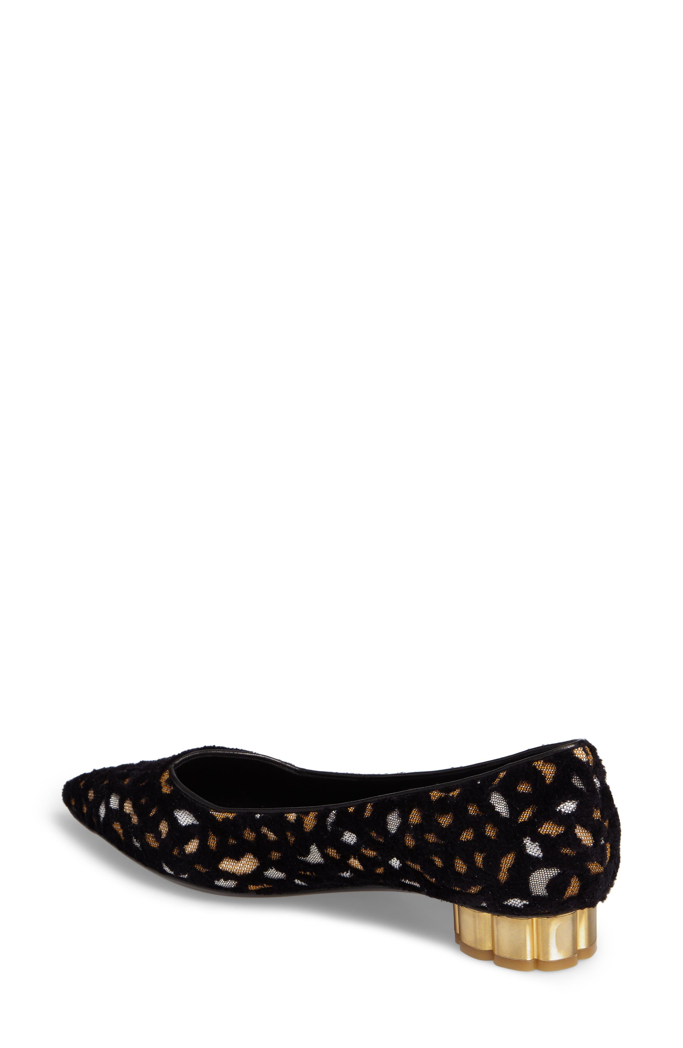 Alternate Image 2  - Salvatore Ferragamo Flower Heel Flat (Women)