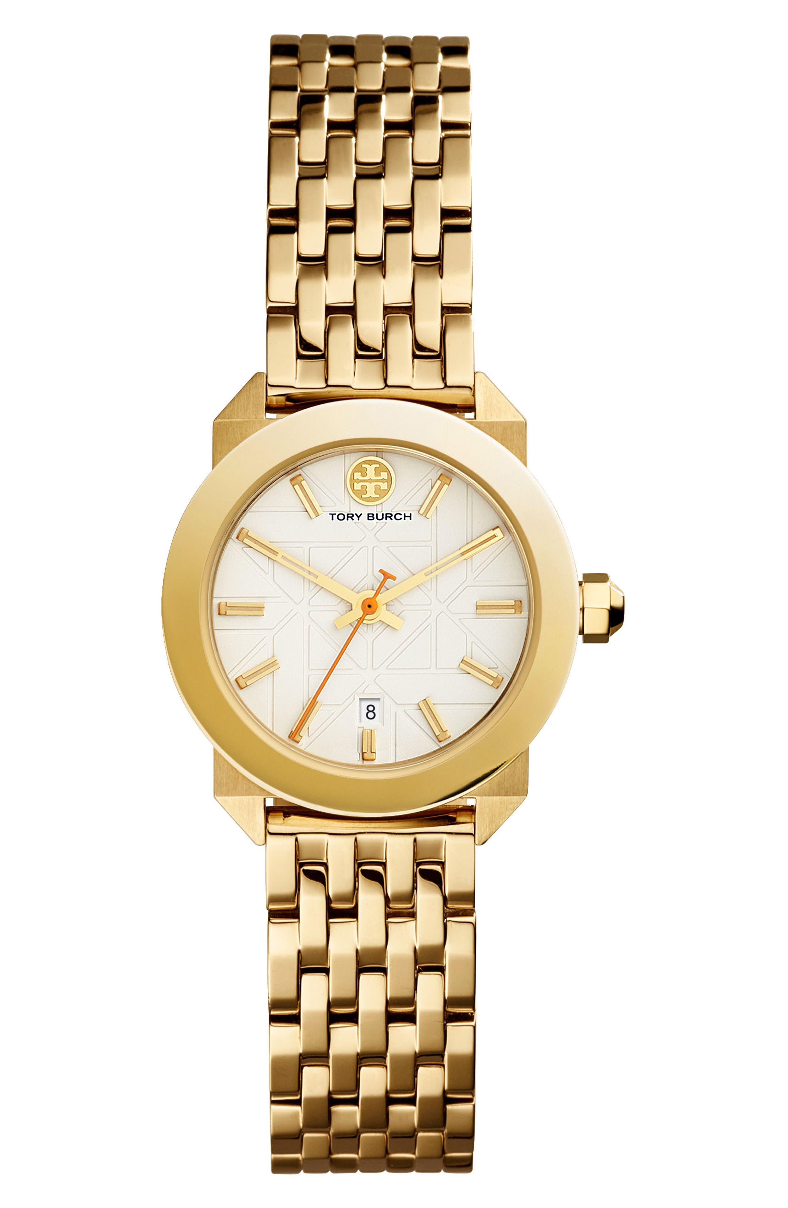 Whitney Bracelet Watch, 28mm,                         Main,                         color, Gold/ Ivory/ Gold