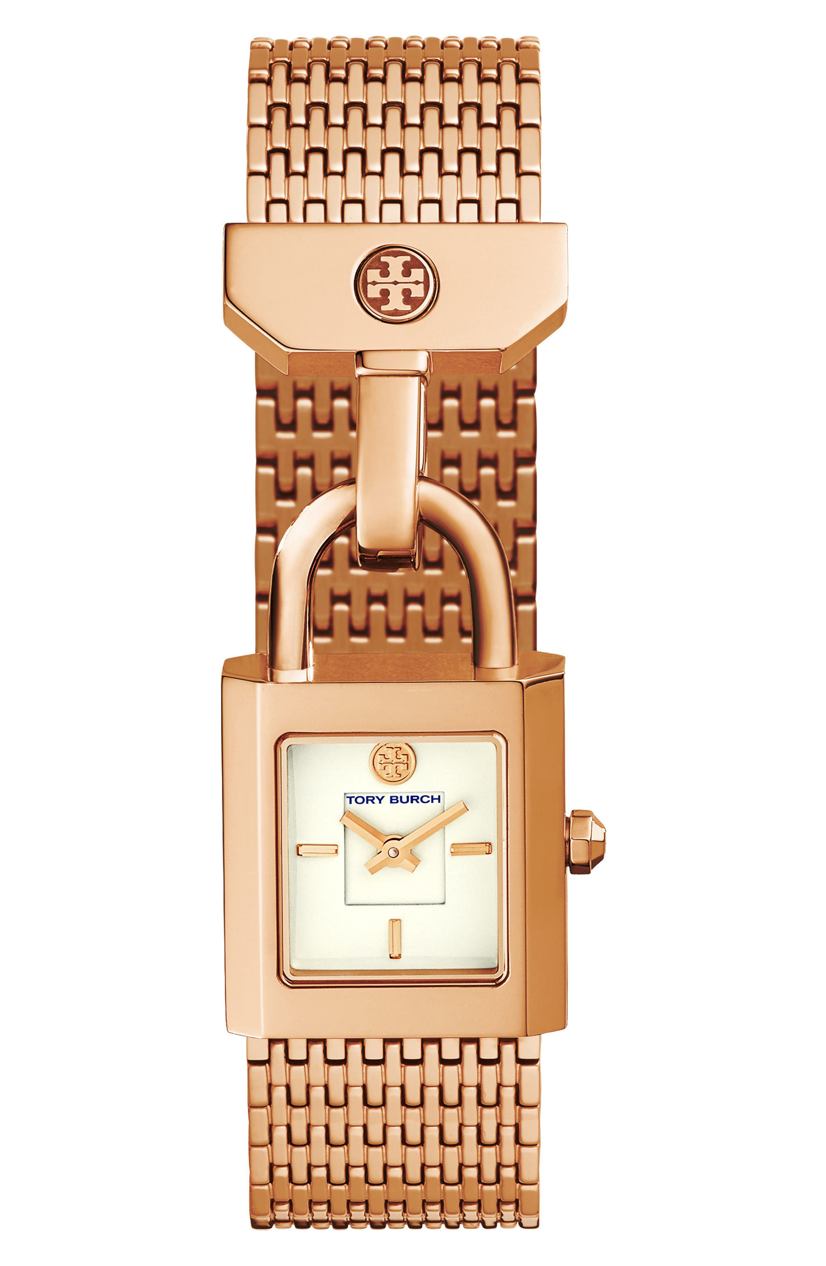 Alternate Image 1 Selected - Tory Burch Surrey Mesh Bracelet Watch, 22mm x 23.5mm