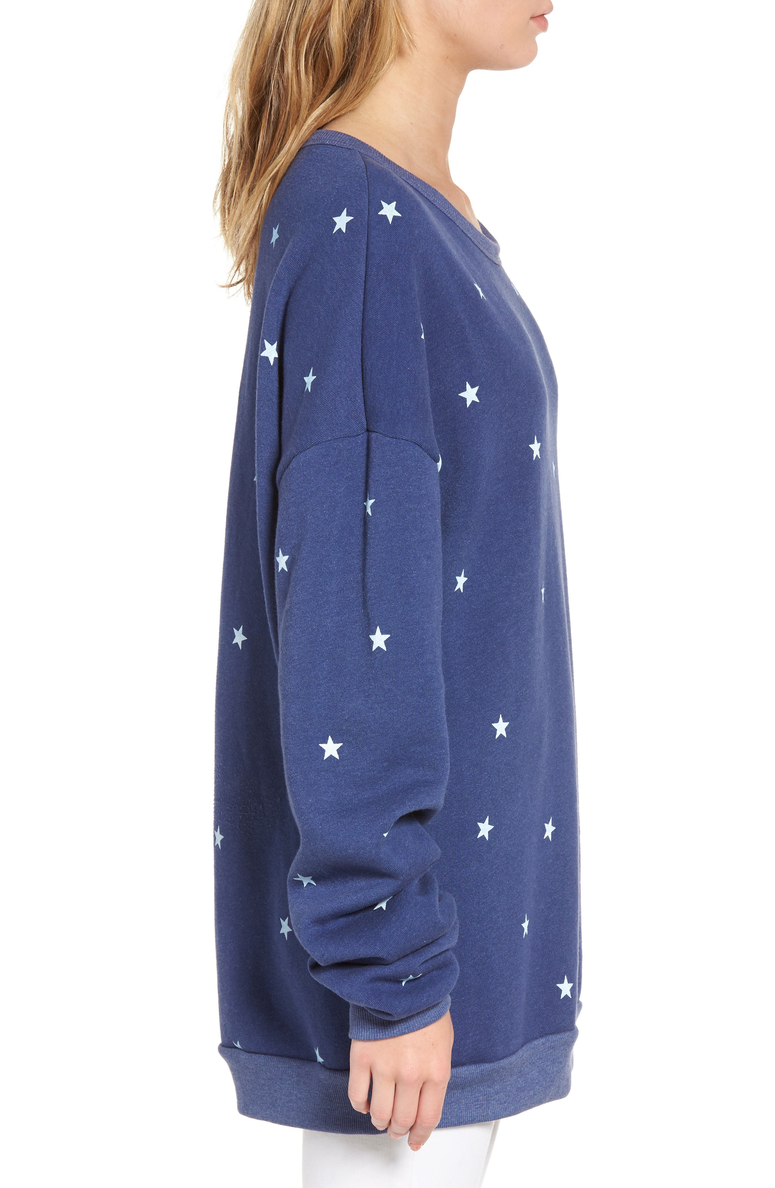 Alternate Image 3  - Wildfox Star Tunic Sweatshirt