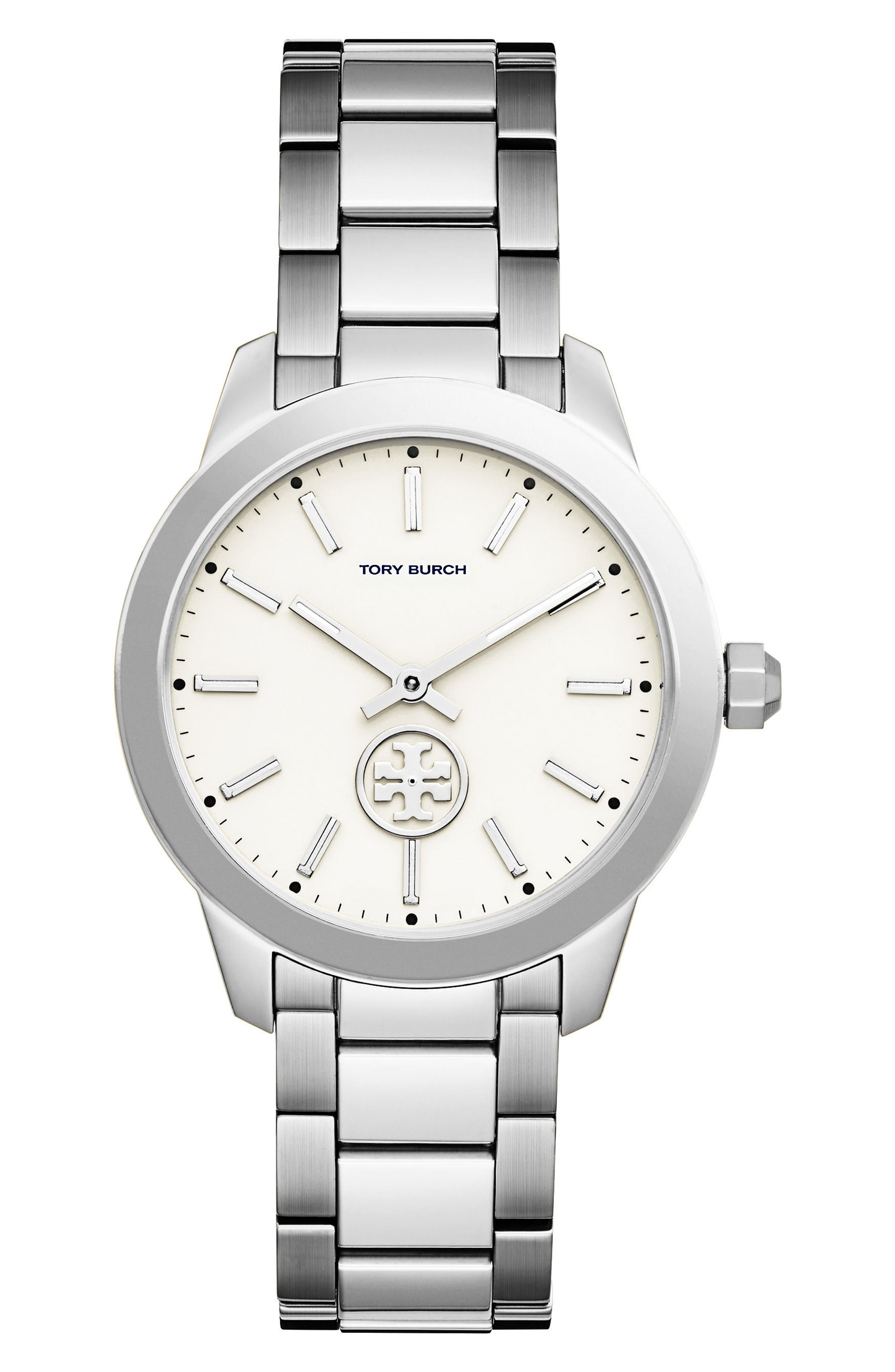 Collins Bracelet Watch, 38mm,                         Main,                         color, Silver/ Ivory/ Silver