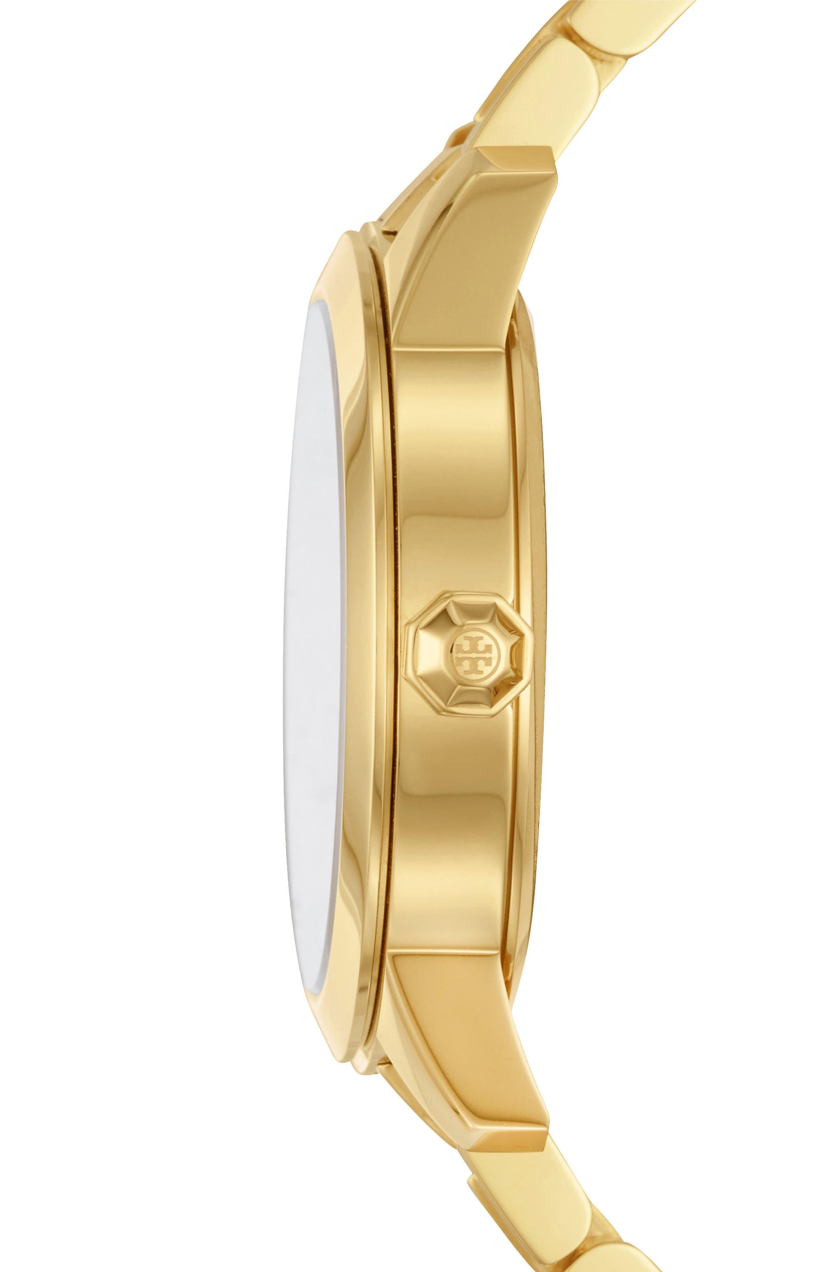 Collins Bracelet Watch, 38mm,                             Alternate thumbnail 2, color,                             Gold/ Ivory/ Gold