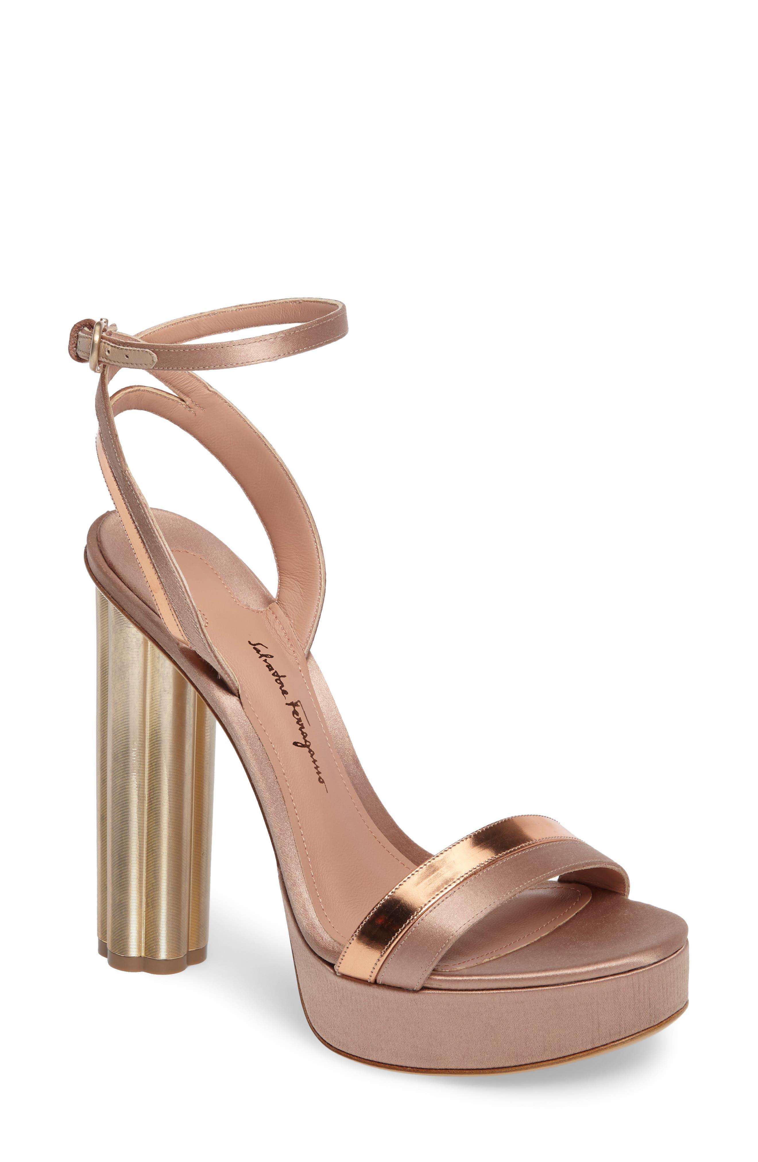 Main Image - Salvatore Ferragamo Ankle Strap Platform Sandal (Women)