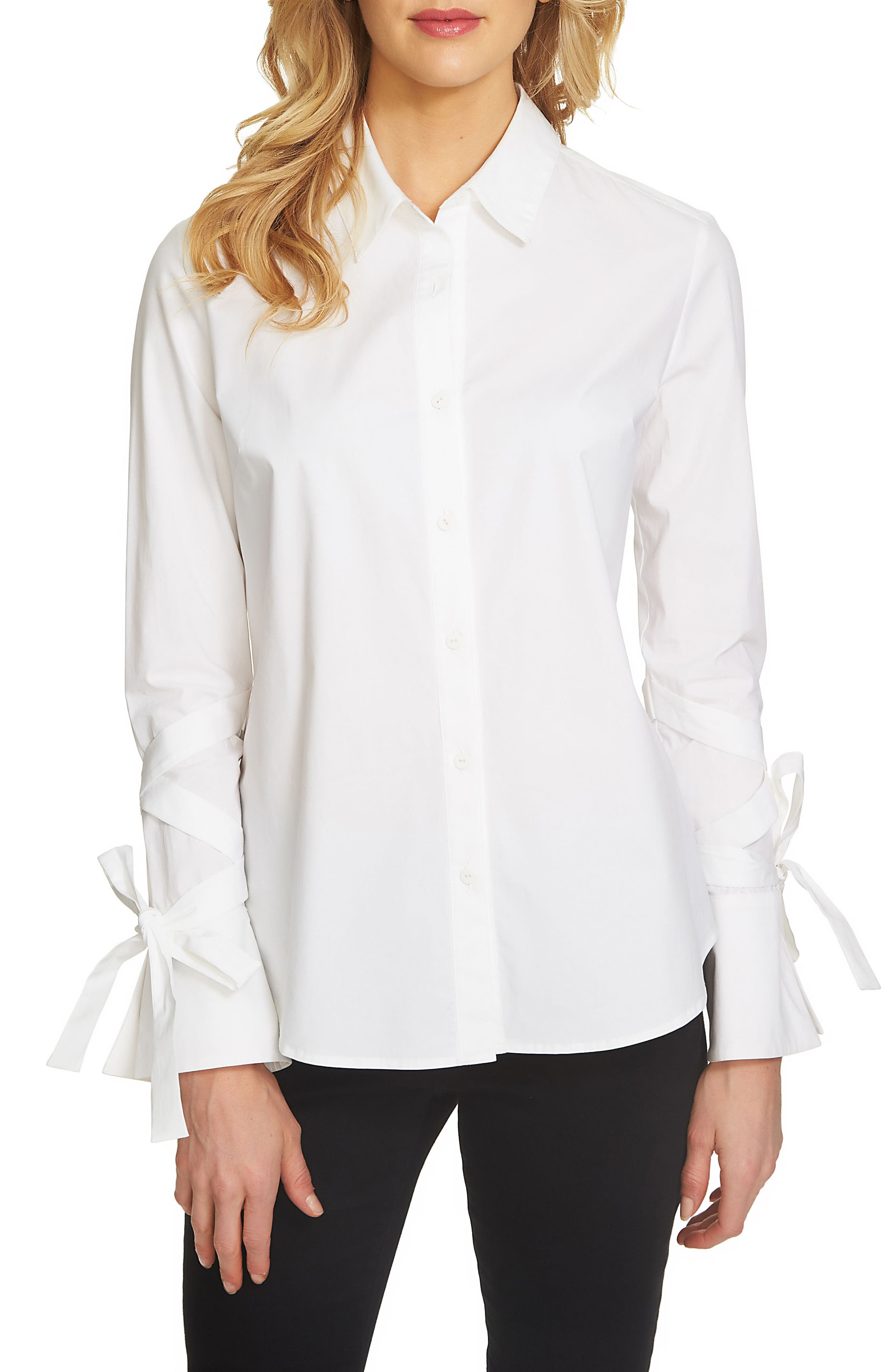 1.STATE Tie Sleeve Blouse