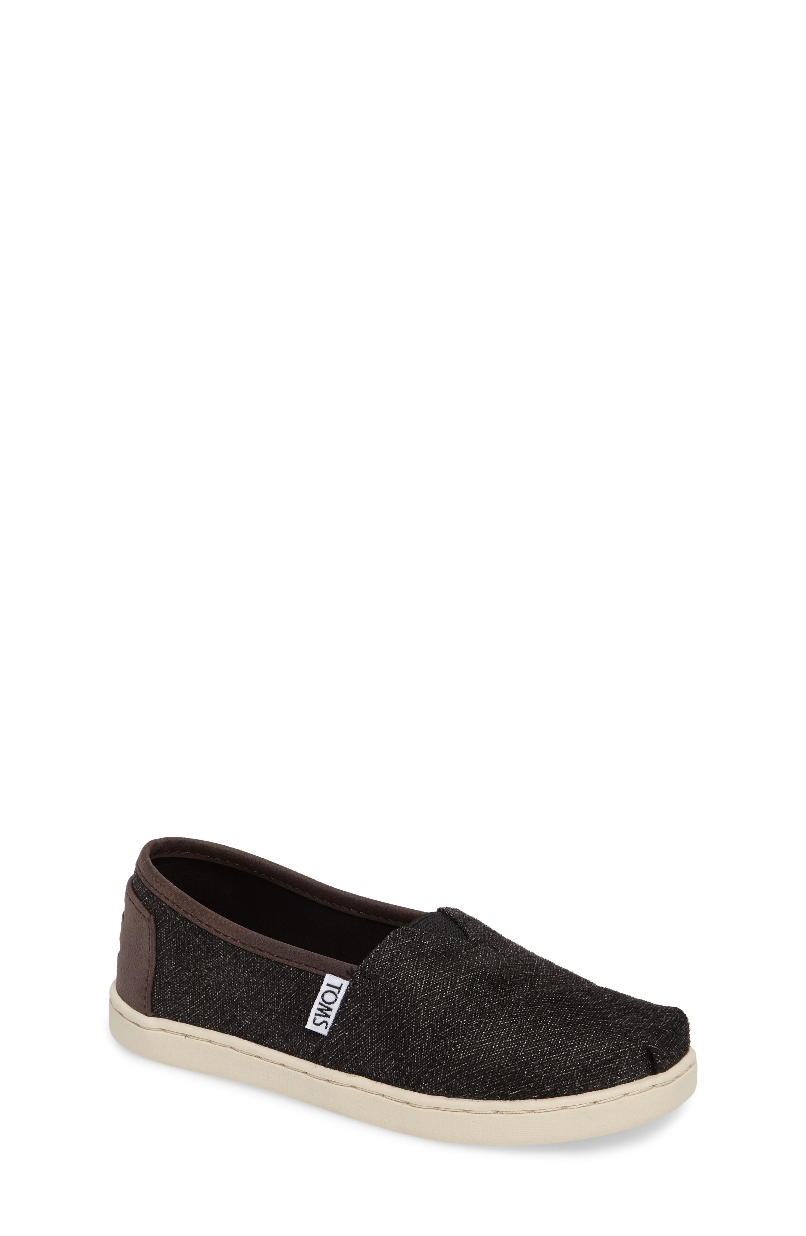 Main Image - TOMS Herringbone Slip-On Sneaker (Toddler, Little Kid & Big Kid)