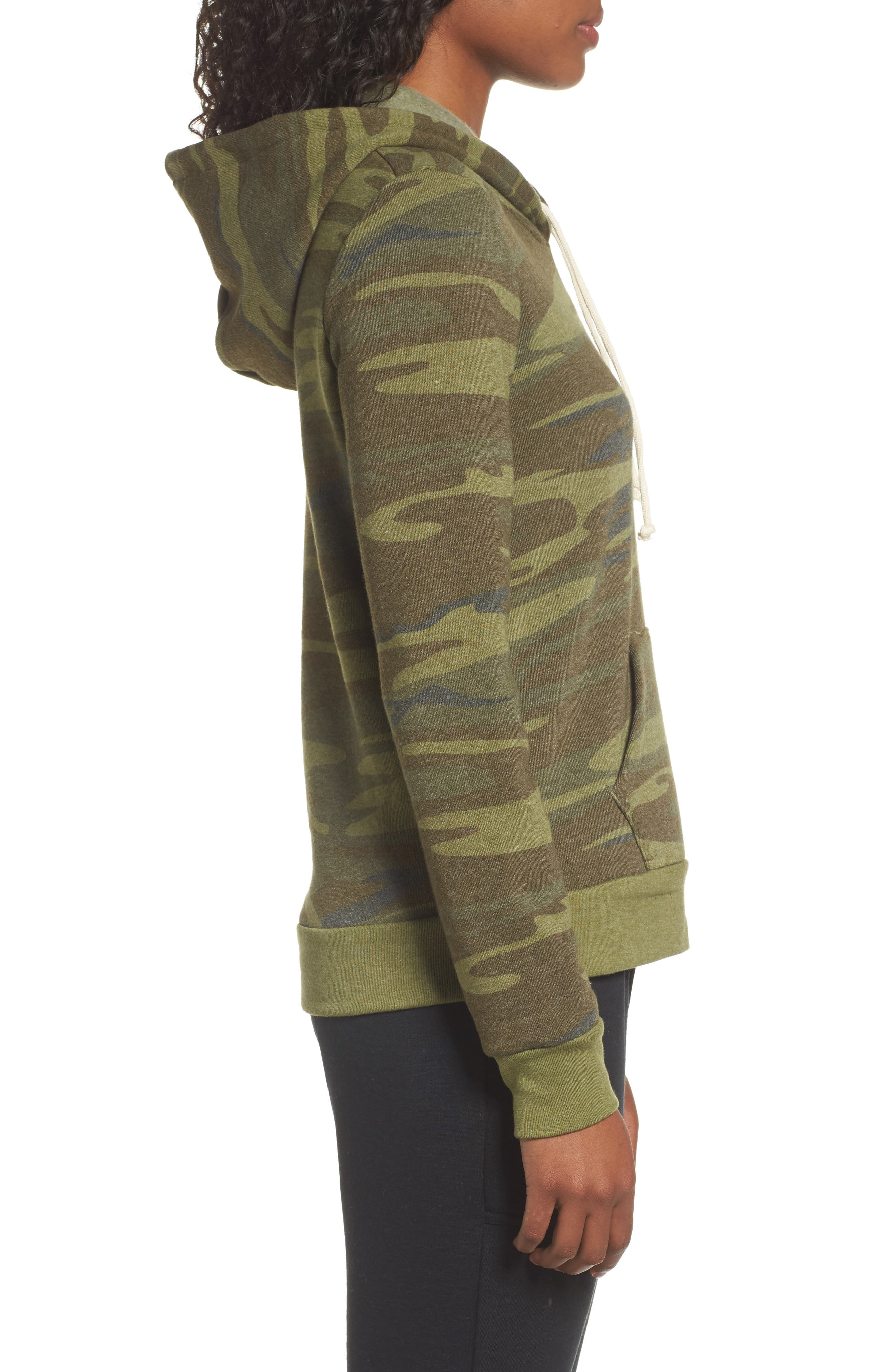 Camo Pullover Hoodie,                             Alternate thumbnail 3, color,                             Camo