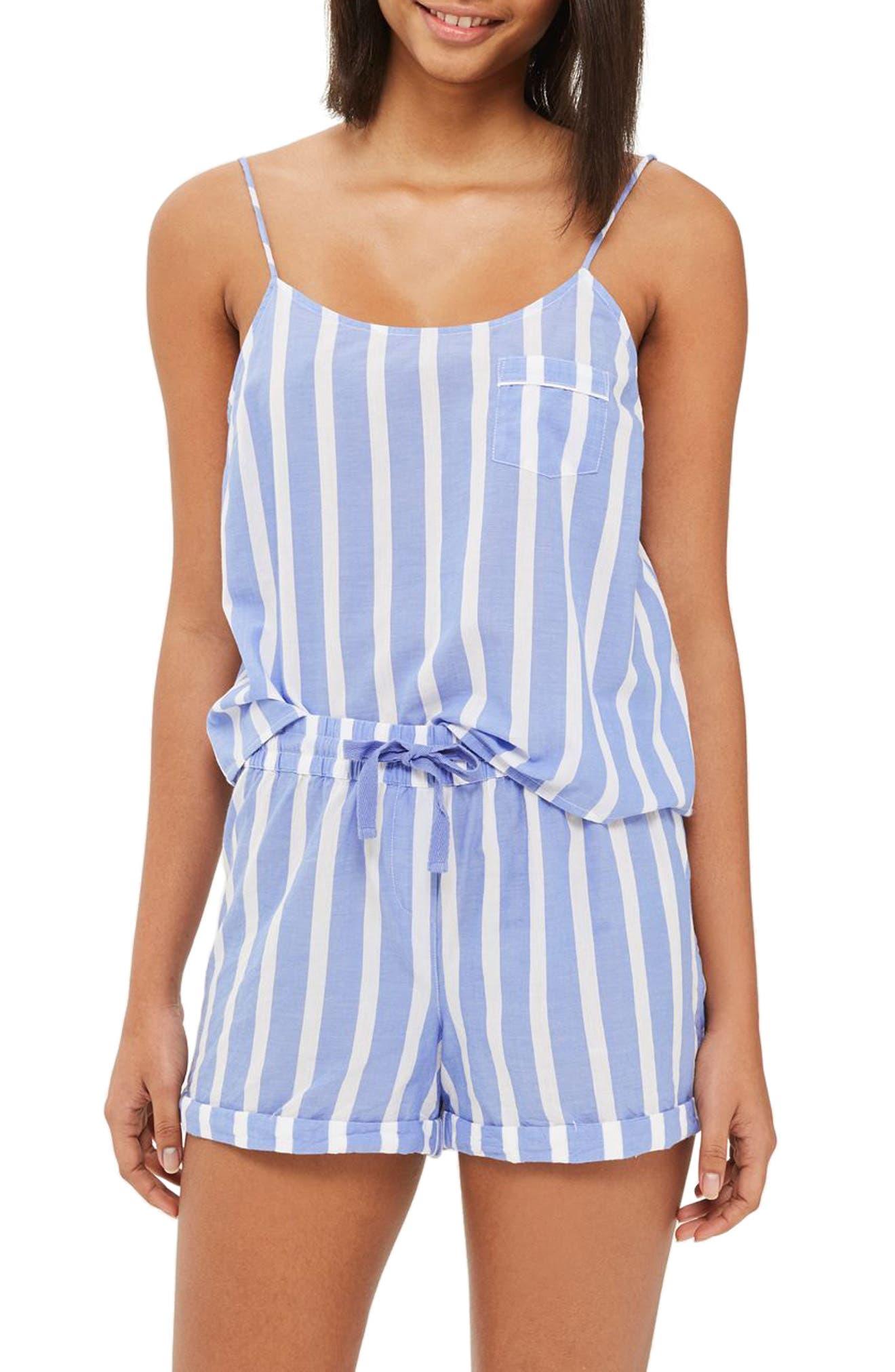 Stripe Pajama Camisole,                         Main,                         color, Blue Multi