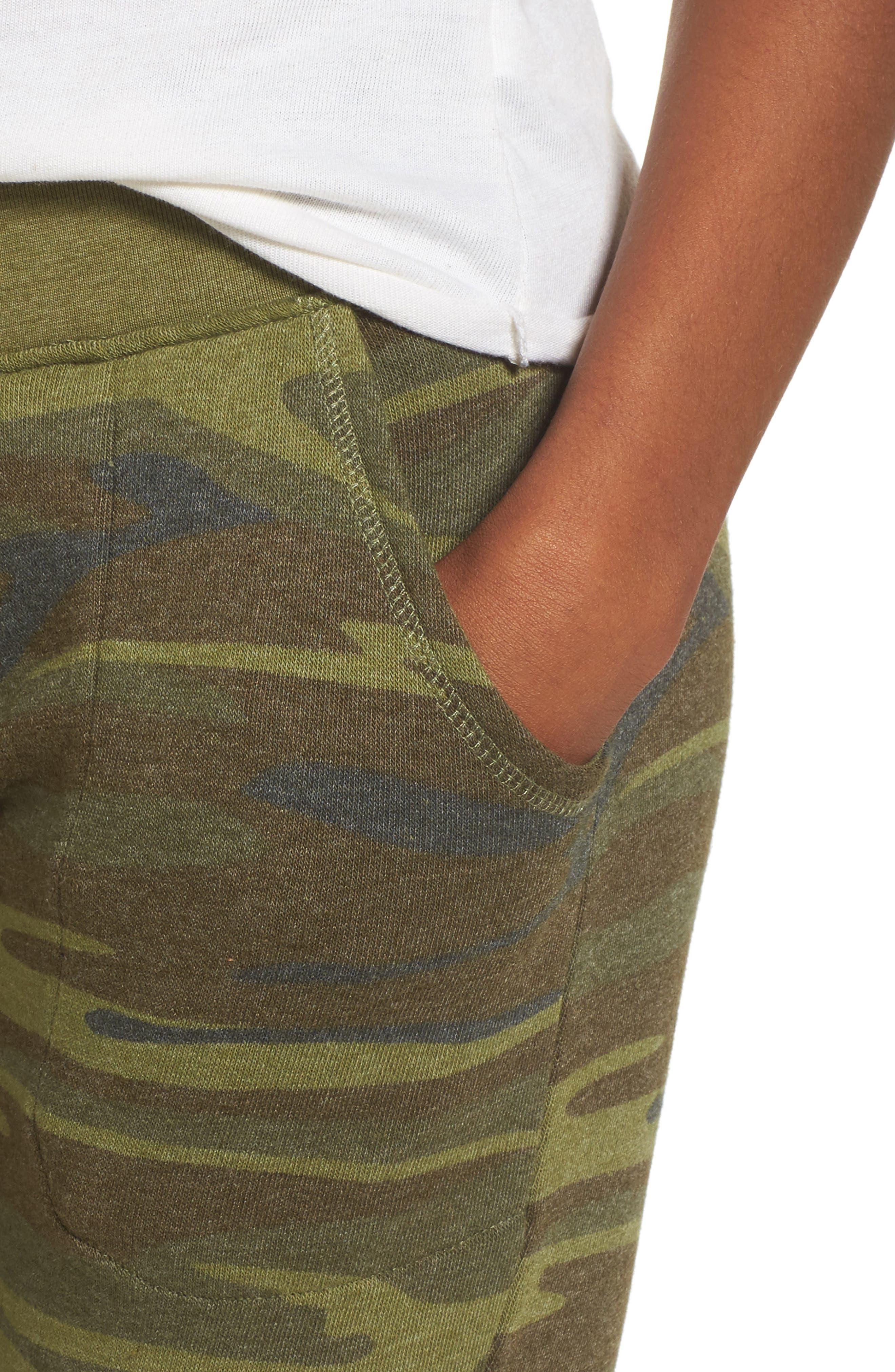 Camo Print Fleece Jogger Pants,                             Alternate thumbnail 5, color,                             Camo