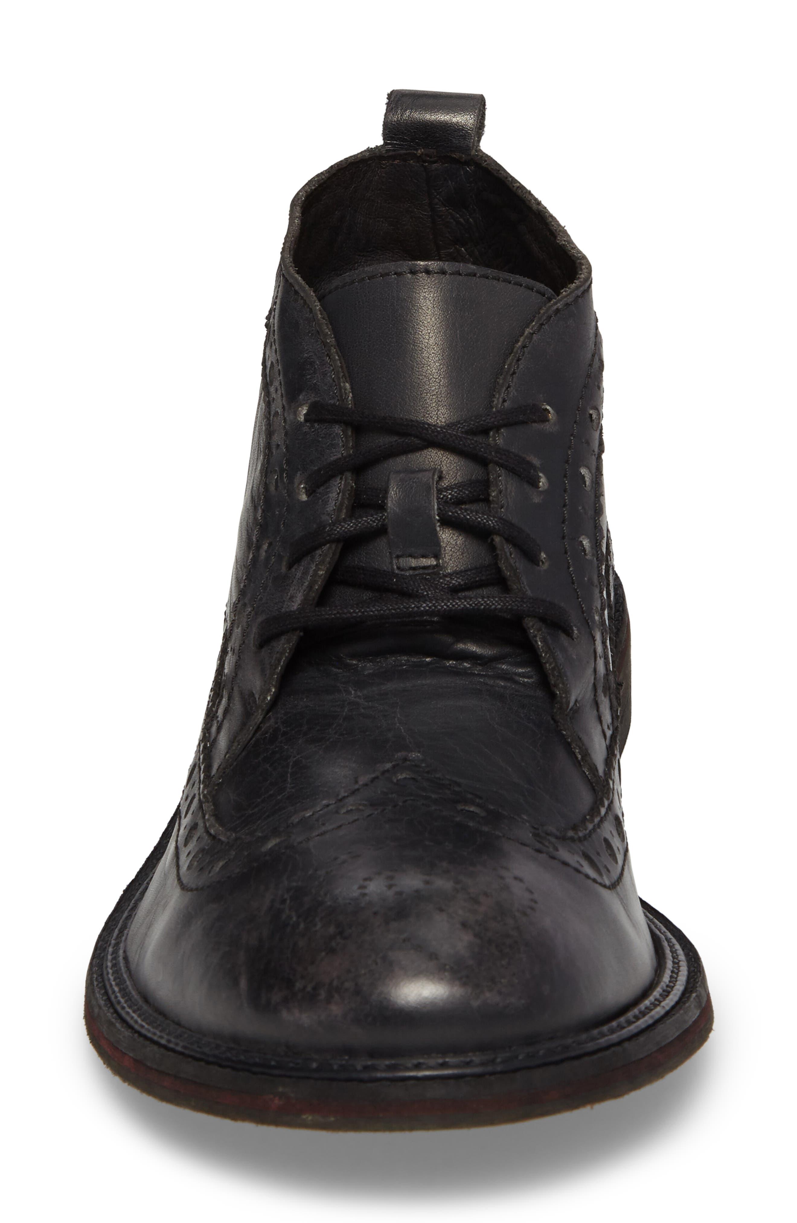 Wile Wingtip Chukka Boot,                             Alternate thumbnail 4, color,                             Black