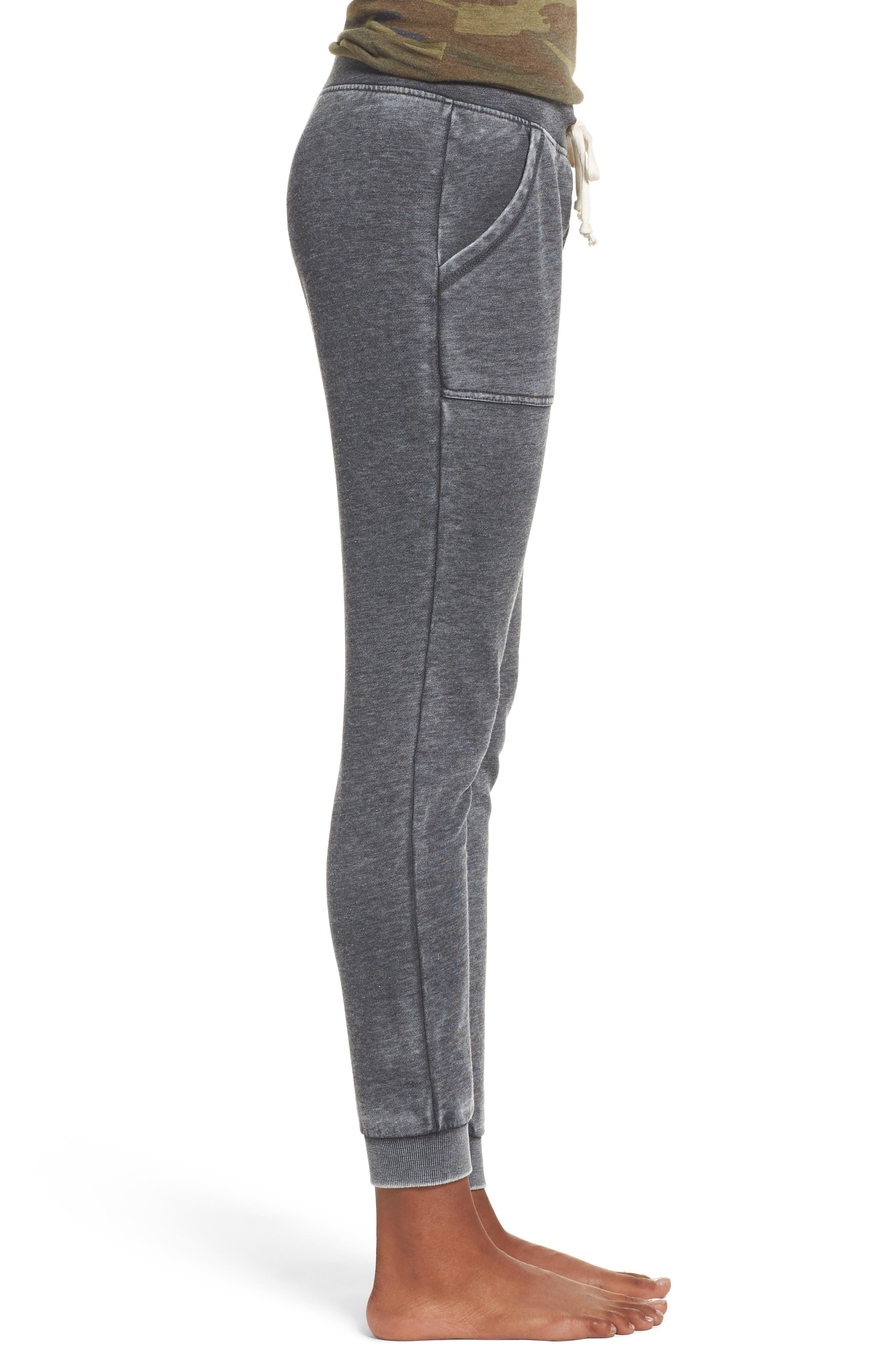 Long Weekend Pants,                             Alternate thumbnail 3, color,                             Washed Black