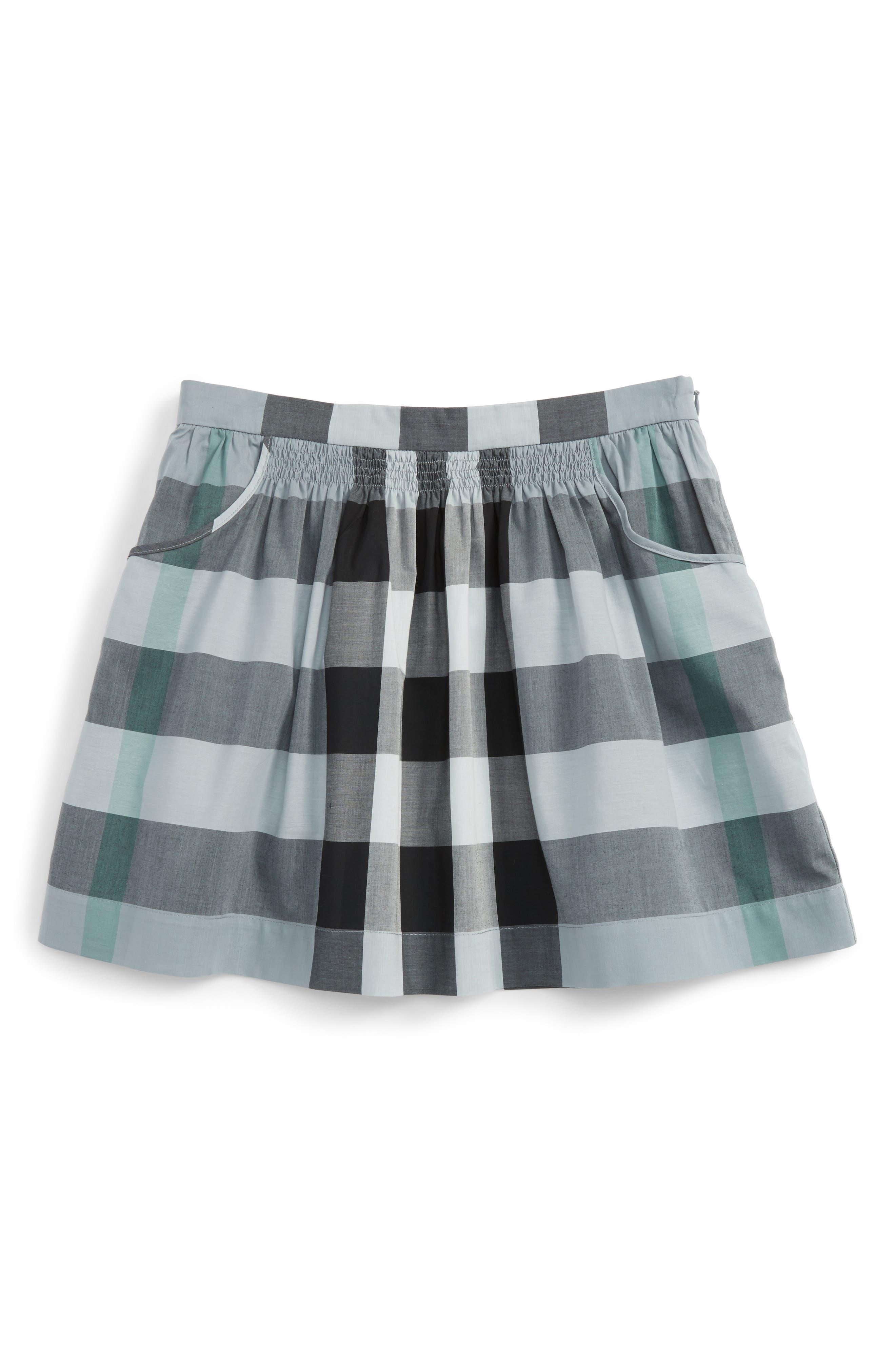 BURBERRY Kayly Check Print Skirt