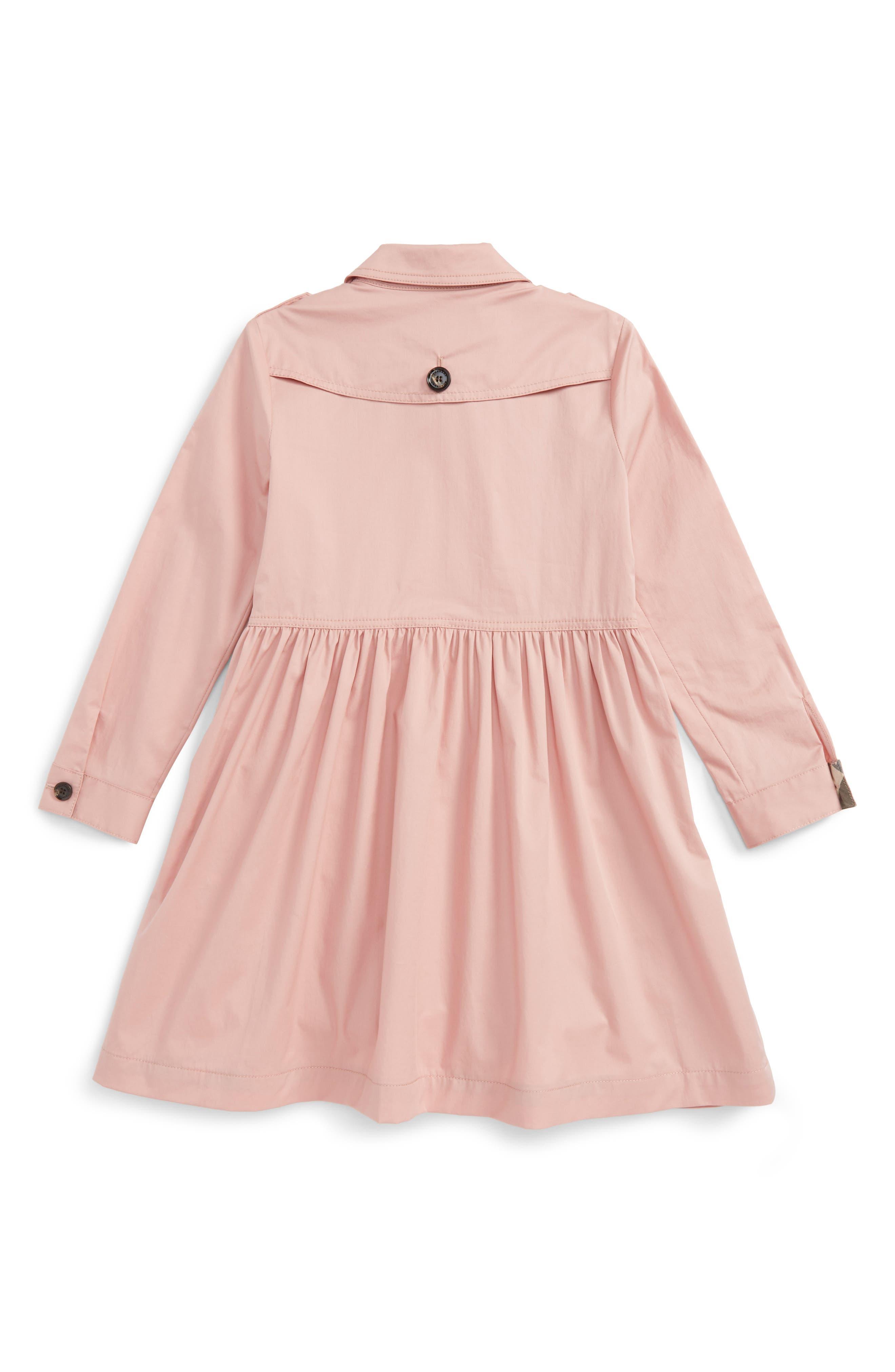 Alternate Image 2  - Burberry Lillyana Trench Dress (Little Girls & Big Girls)