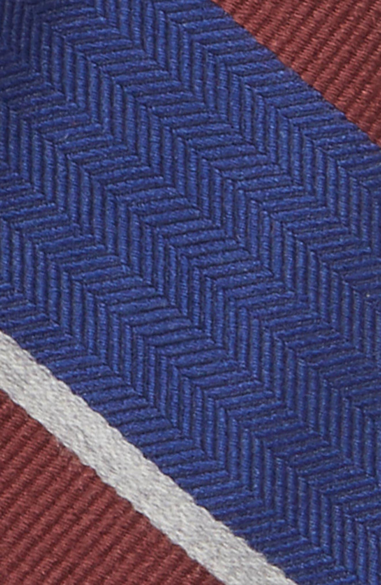 Alternate Image 2  - Nordstrom Stripe Wool & Silk Tie (Big Boys)