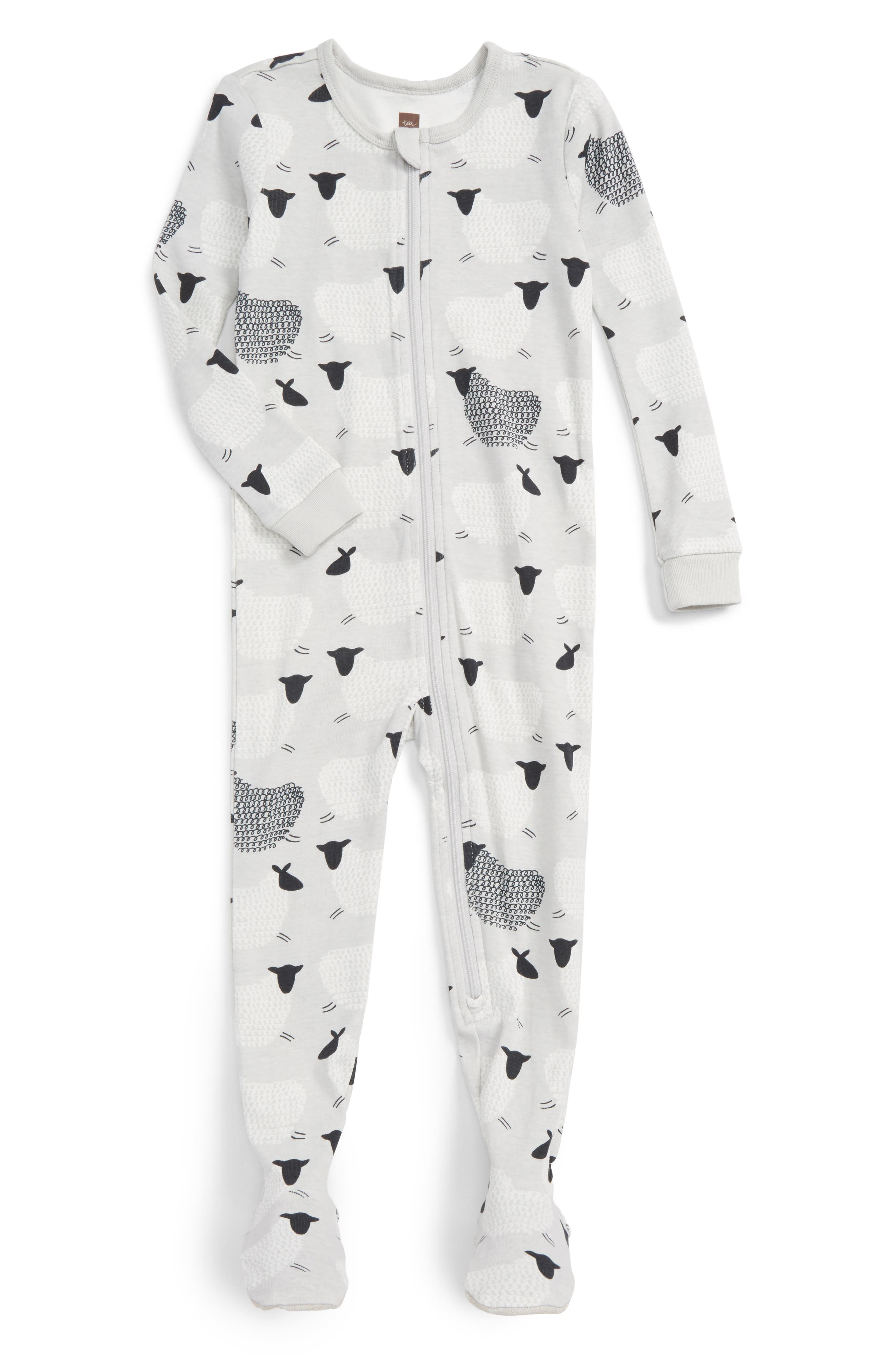 Tea Collection Baa Baa Fitted One-Piece Pajamas (Baby Girls)