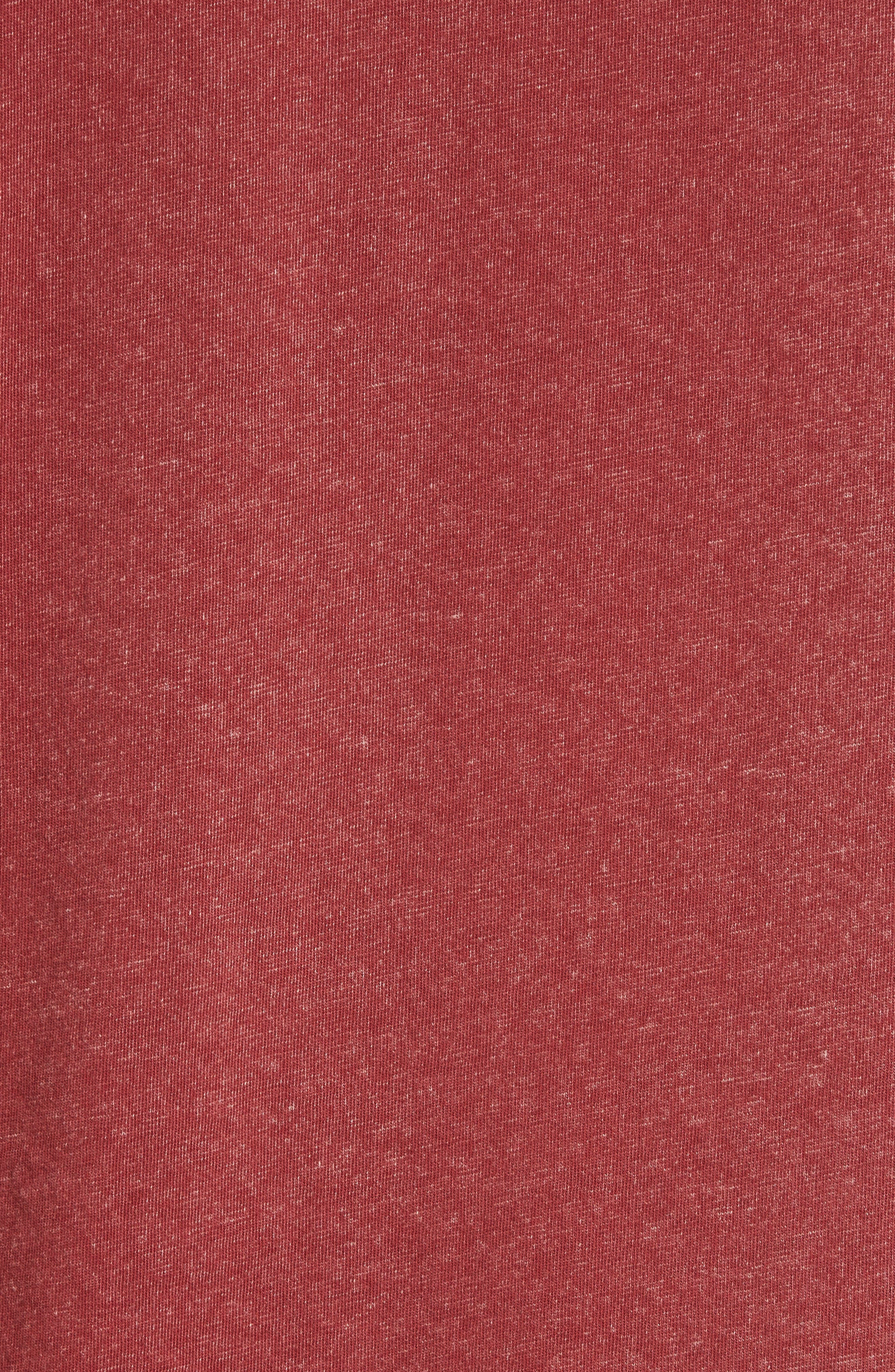 'Kahuna' V-Neck T-Shirt,                             Alternate thumbnail 5, color,                             Ruby Wine