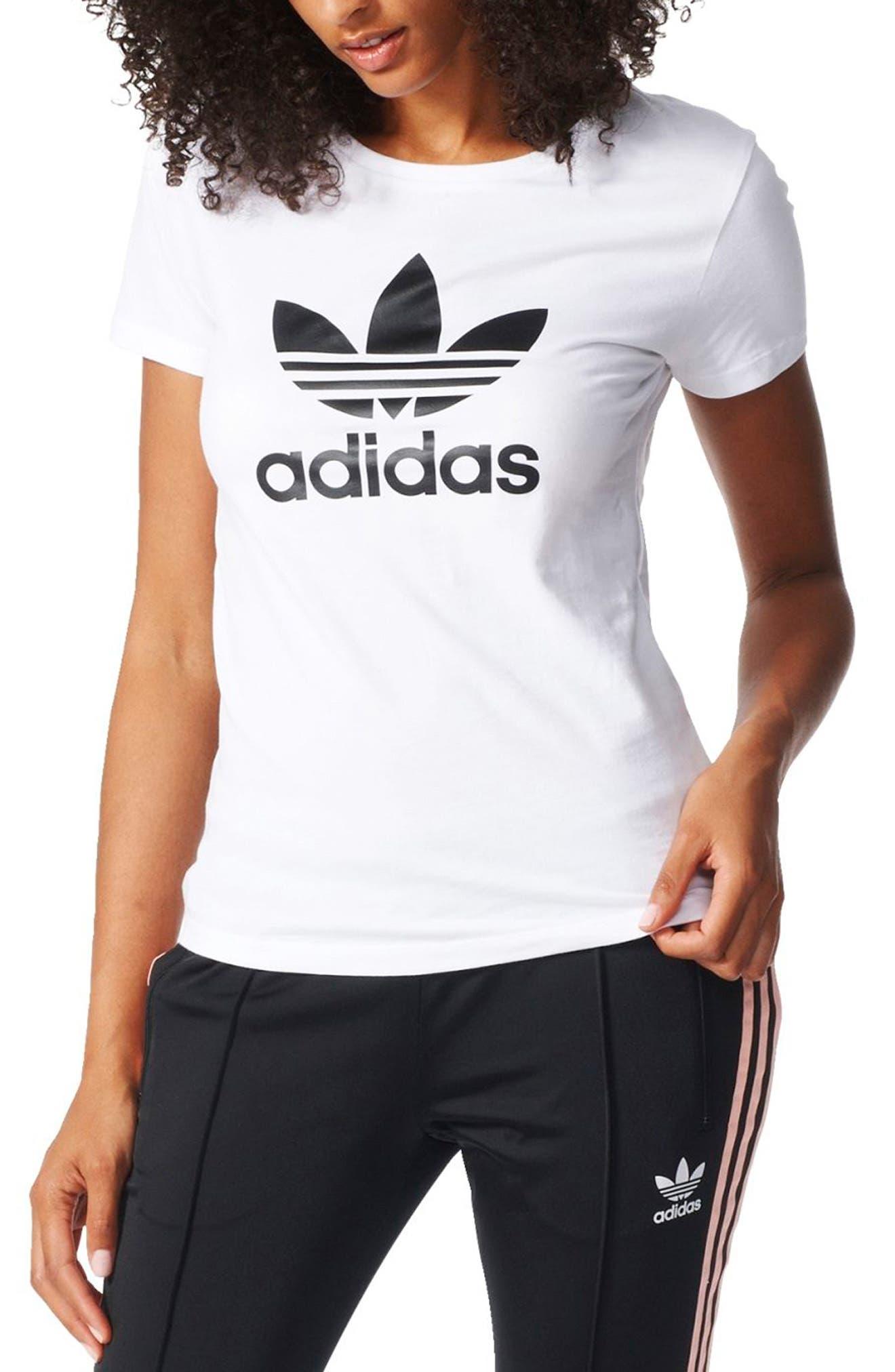Main Image - adidas Originals Trefoil Jersey Tee