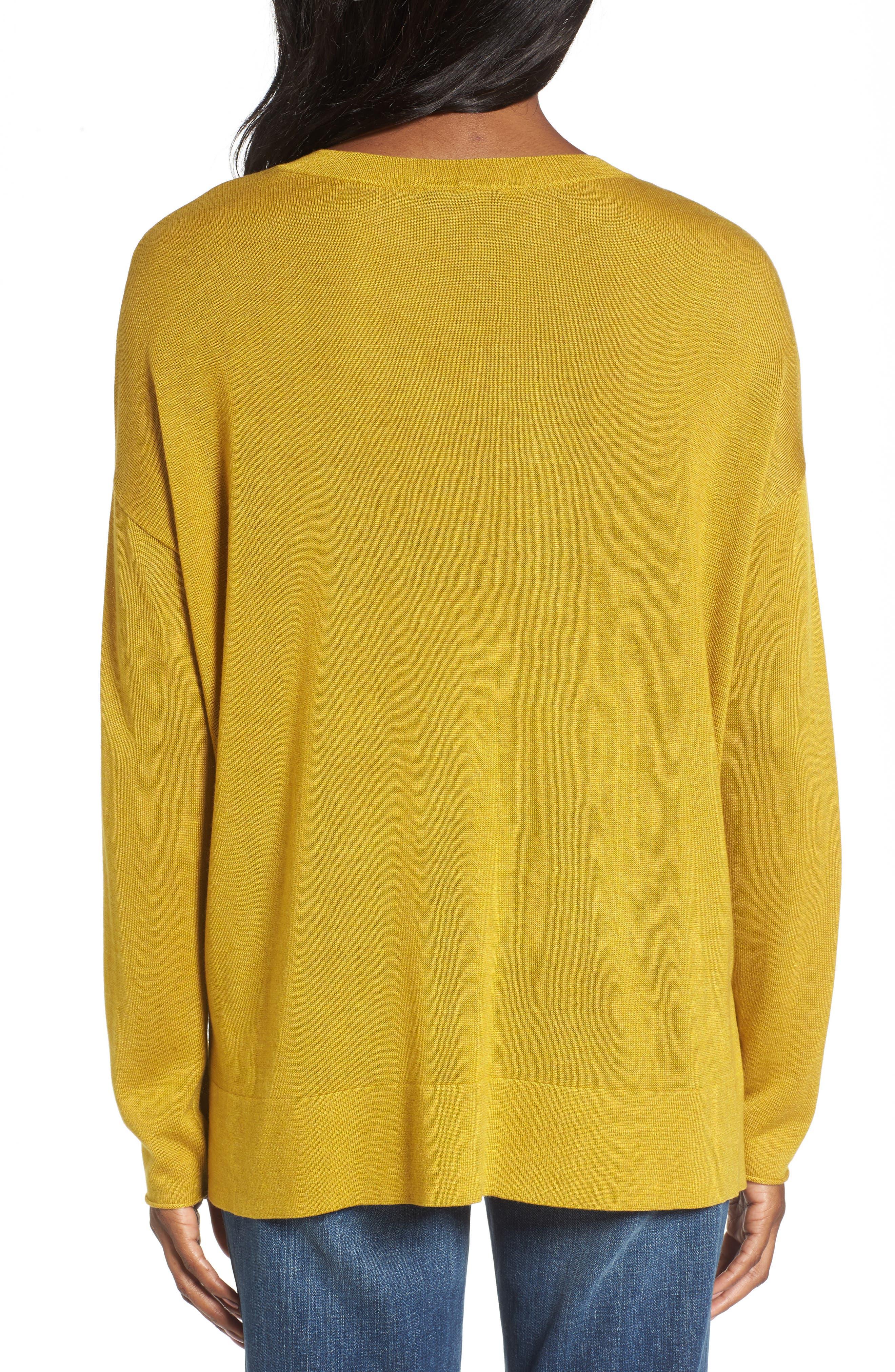 Alternate Image 2  - Eileen Fisher Tencel® Blend Sweater
