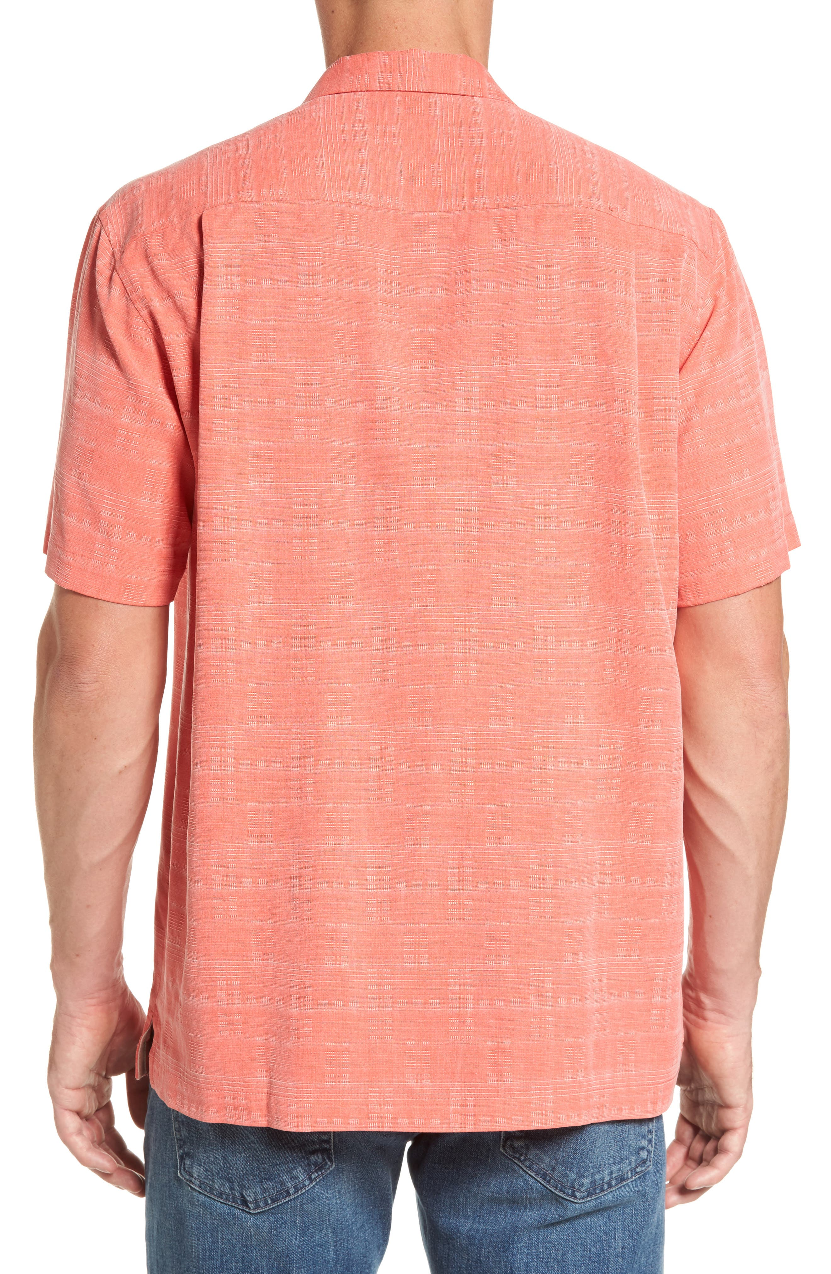 'Geo-Rific Jacquard' Original Fit Silk Camp Shirt,                             Alternate thumbnail 2, color,                             Fusion