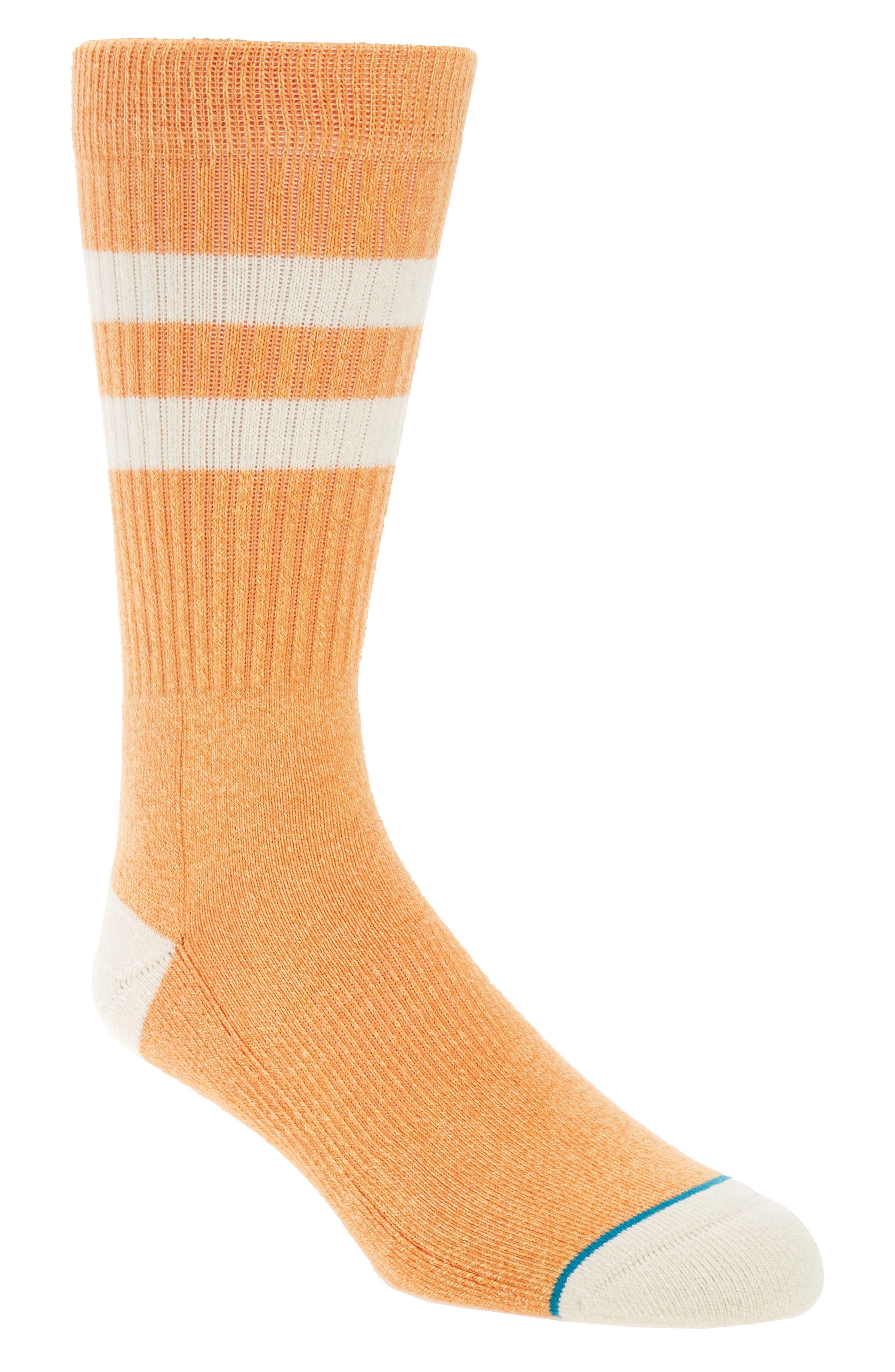 Salty Crew Socks,                         Main,                         color, Pastel Orange