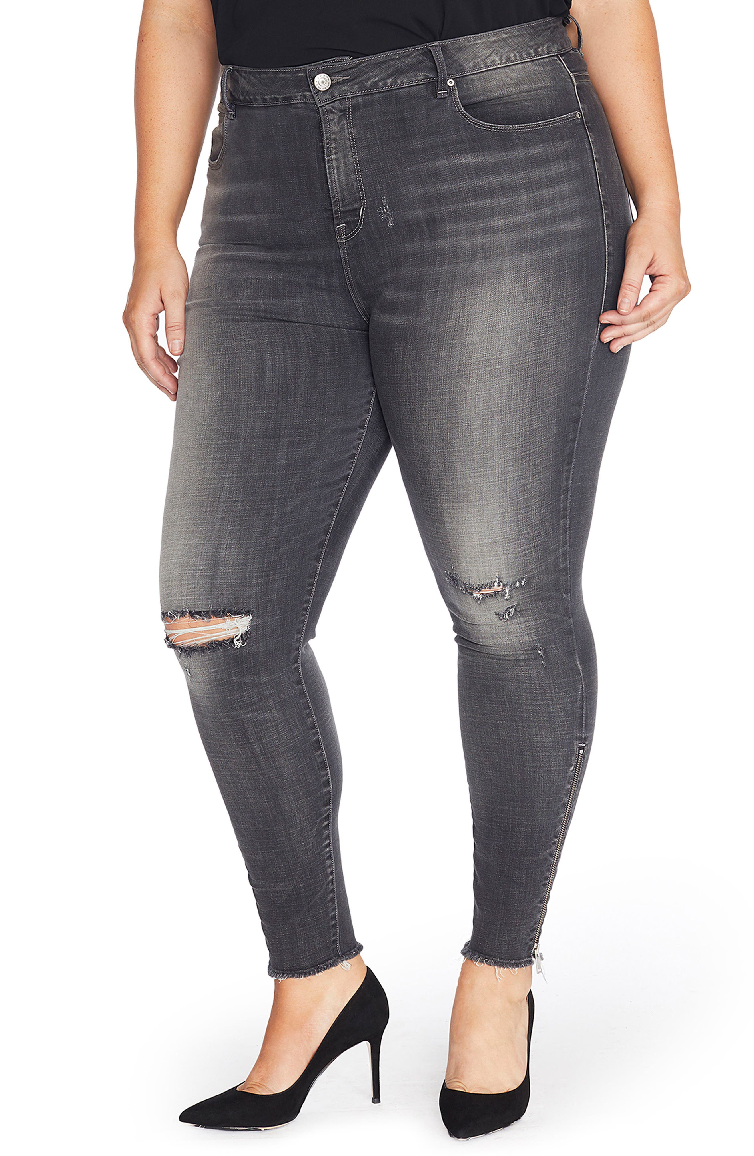 Main Image - Rebel Wilson x Angels The Icon High Rise Super Skinny Jeans (Plus Size)