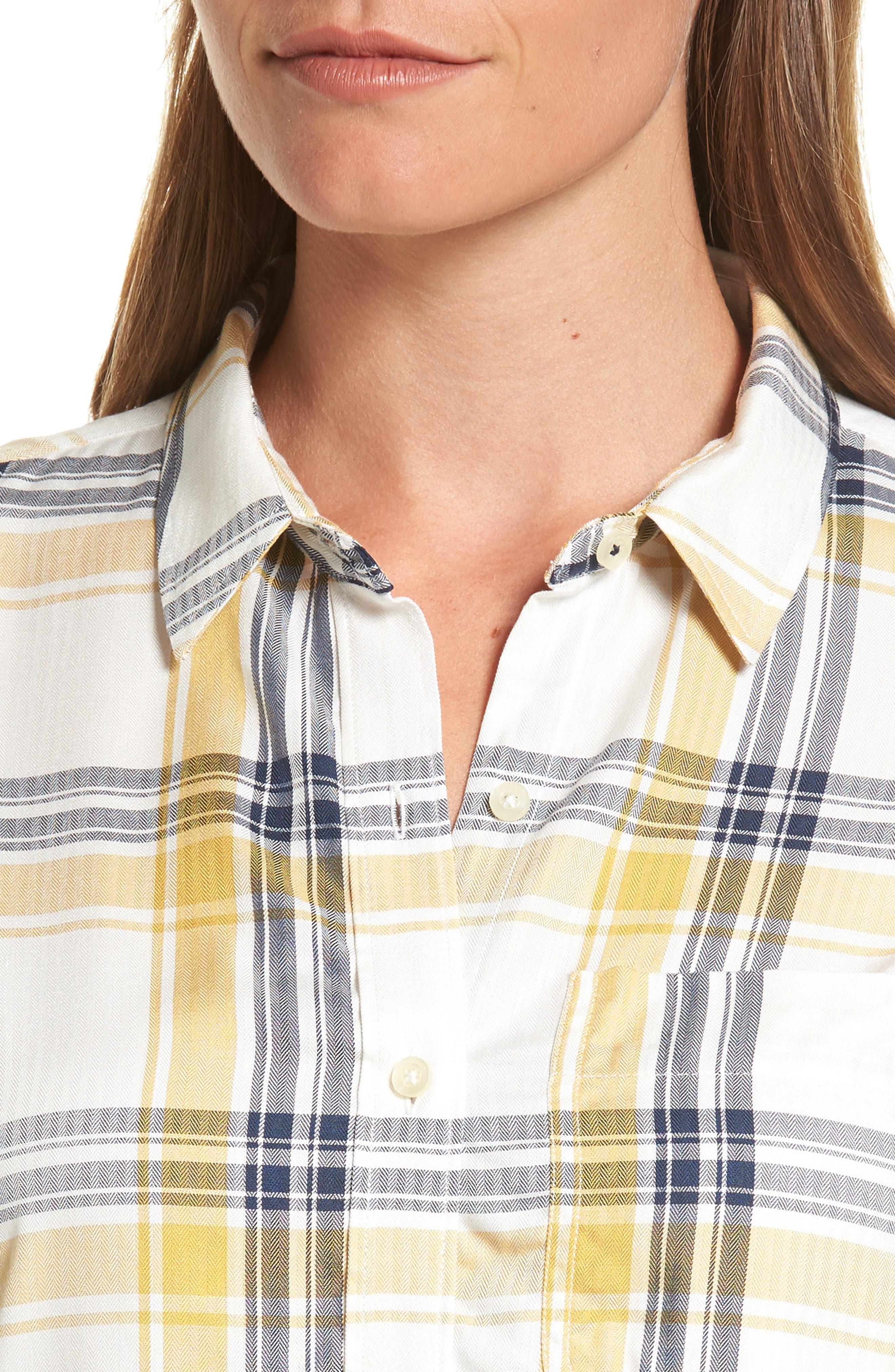 Alternate Image 4  - Barbour Newton Plaid Shirt