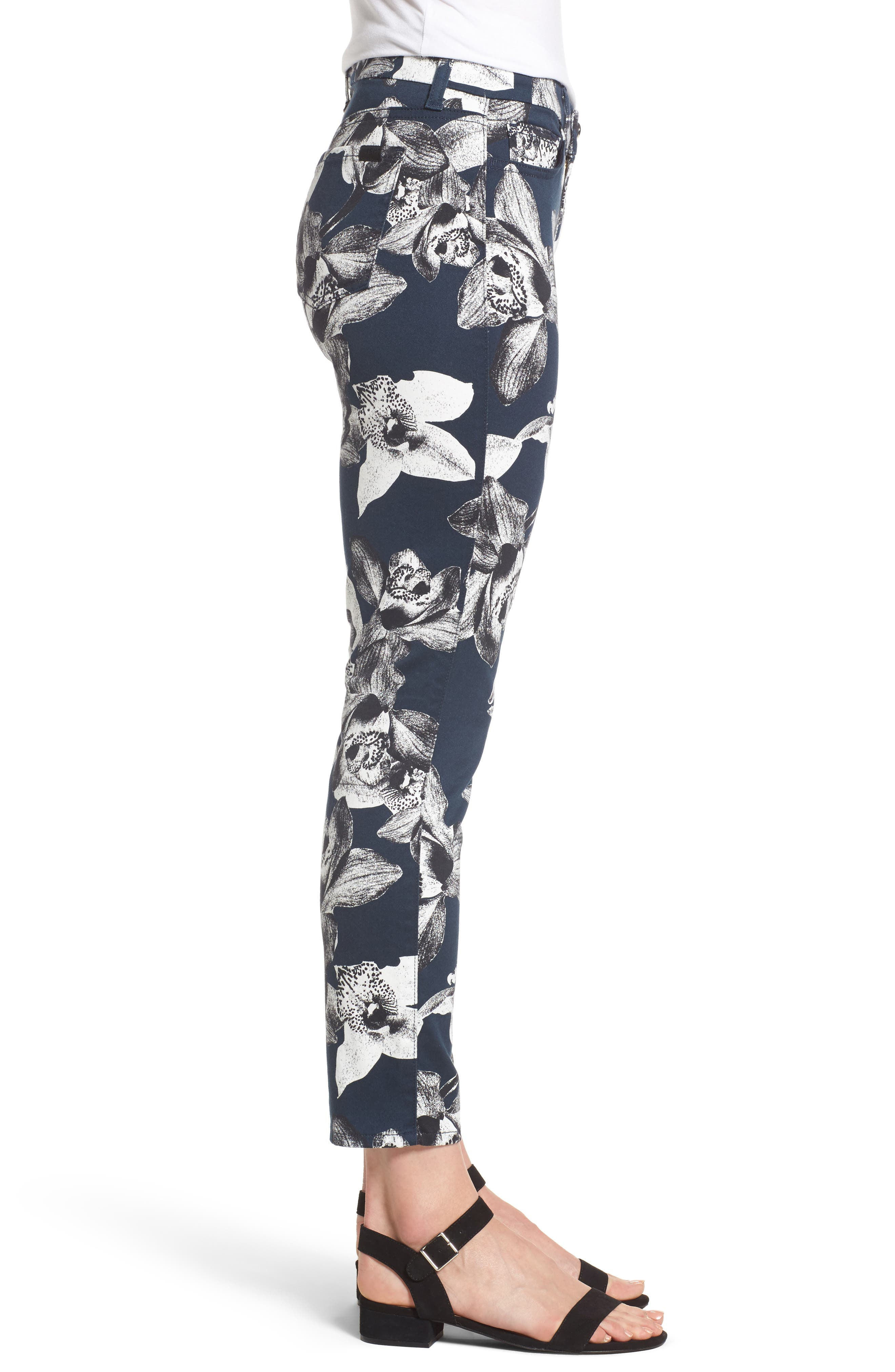 Alternate Image 3  - Jen7 Print Crop Skinny Jeans