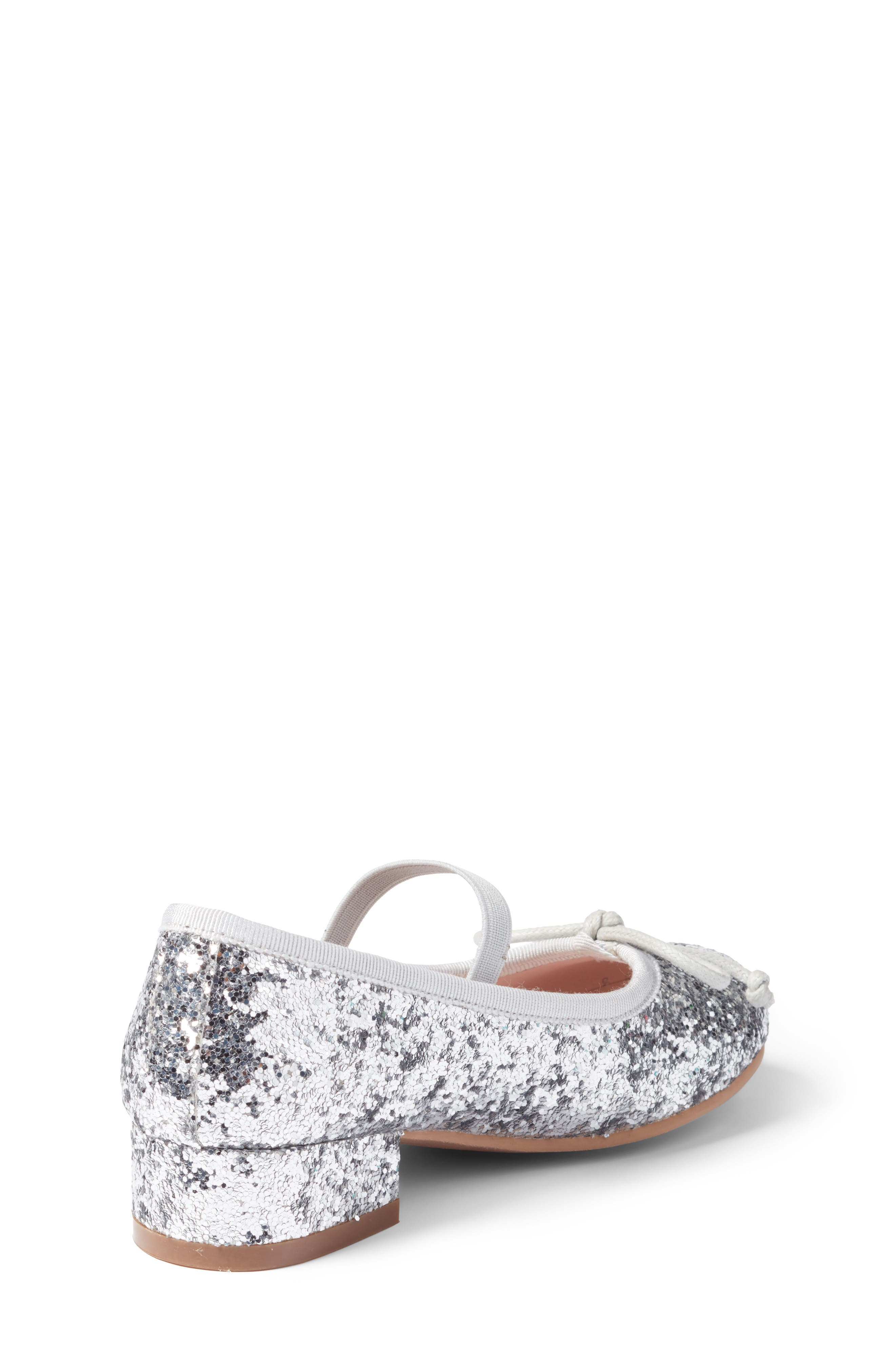 Hallie Glittery Mary Jane,                             Alternate thumbnail 2, color,                             Silver Glitter Faux Leather