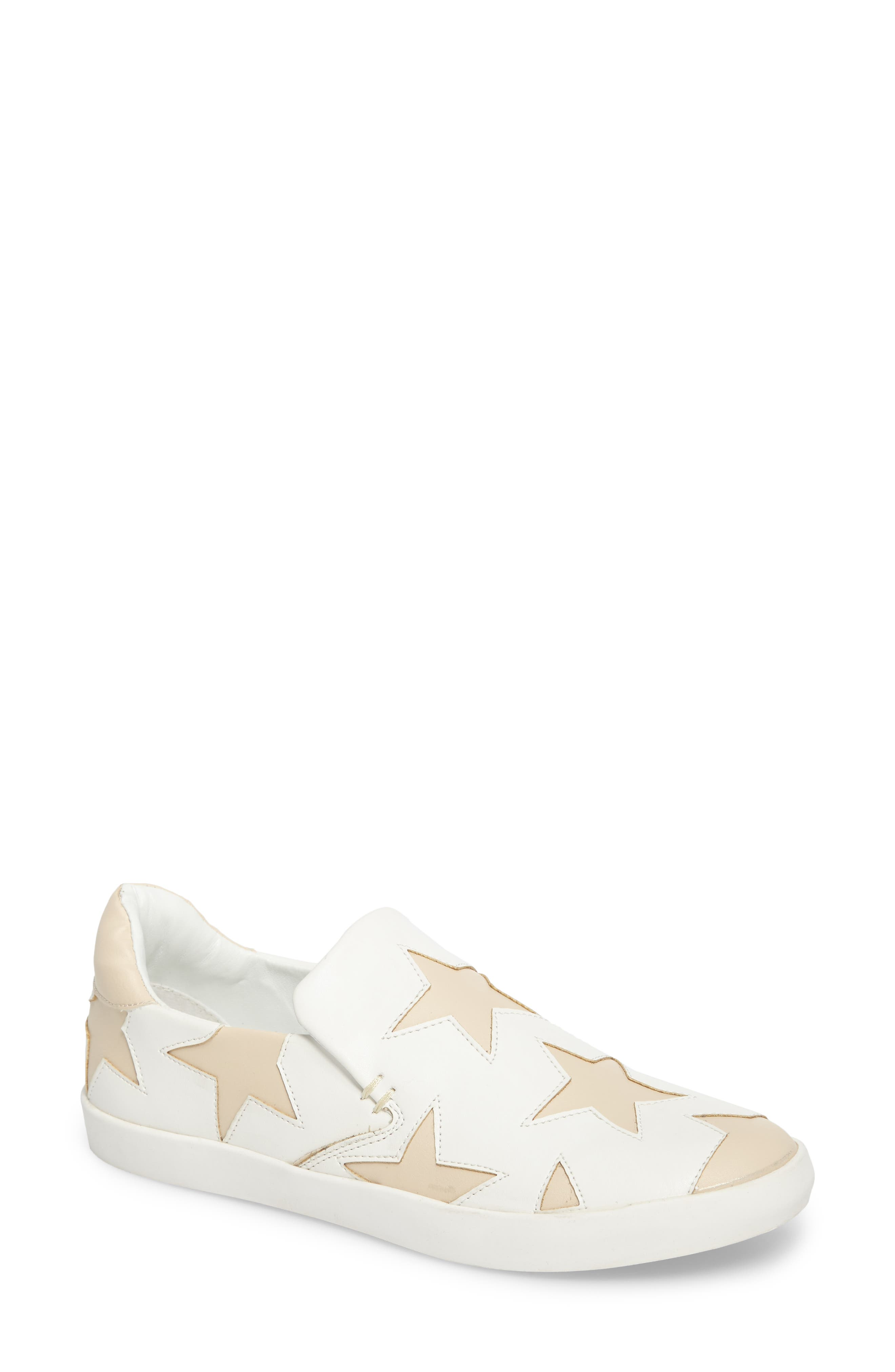 Highlight Slip-On Star Sneaker,                             Main thumbnail 1, color,                             White