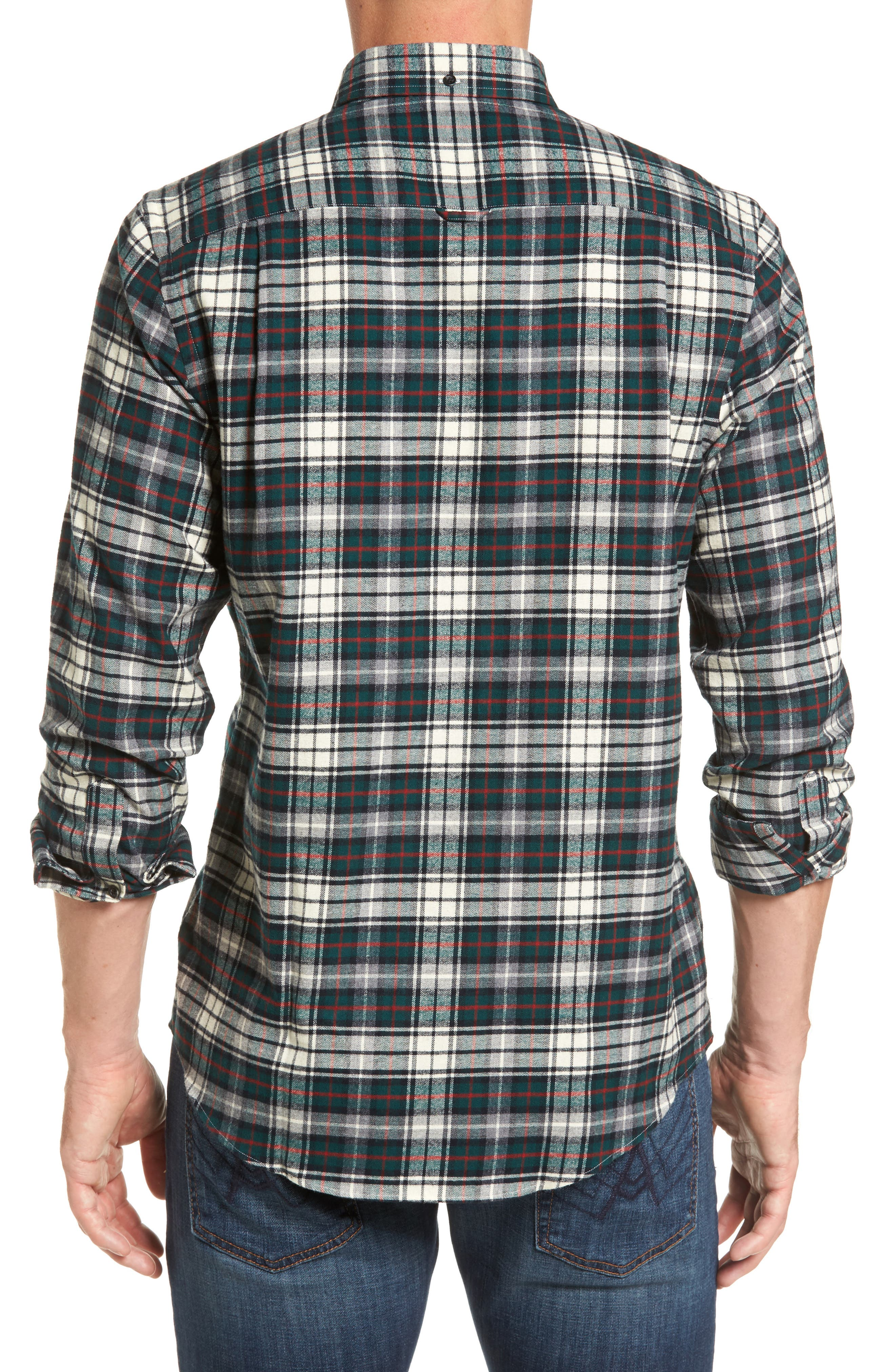 Alternate Image 2  - Nordstrom Men's Shop Regular Fit Plaid Sport Shirt