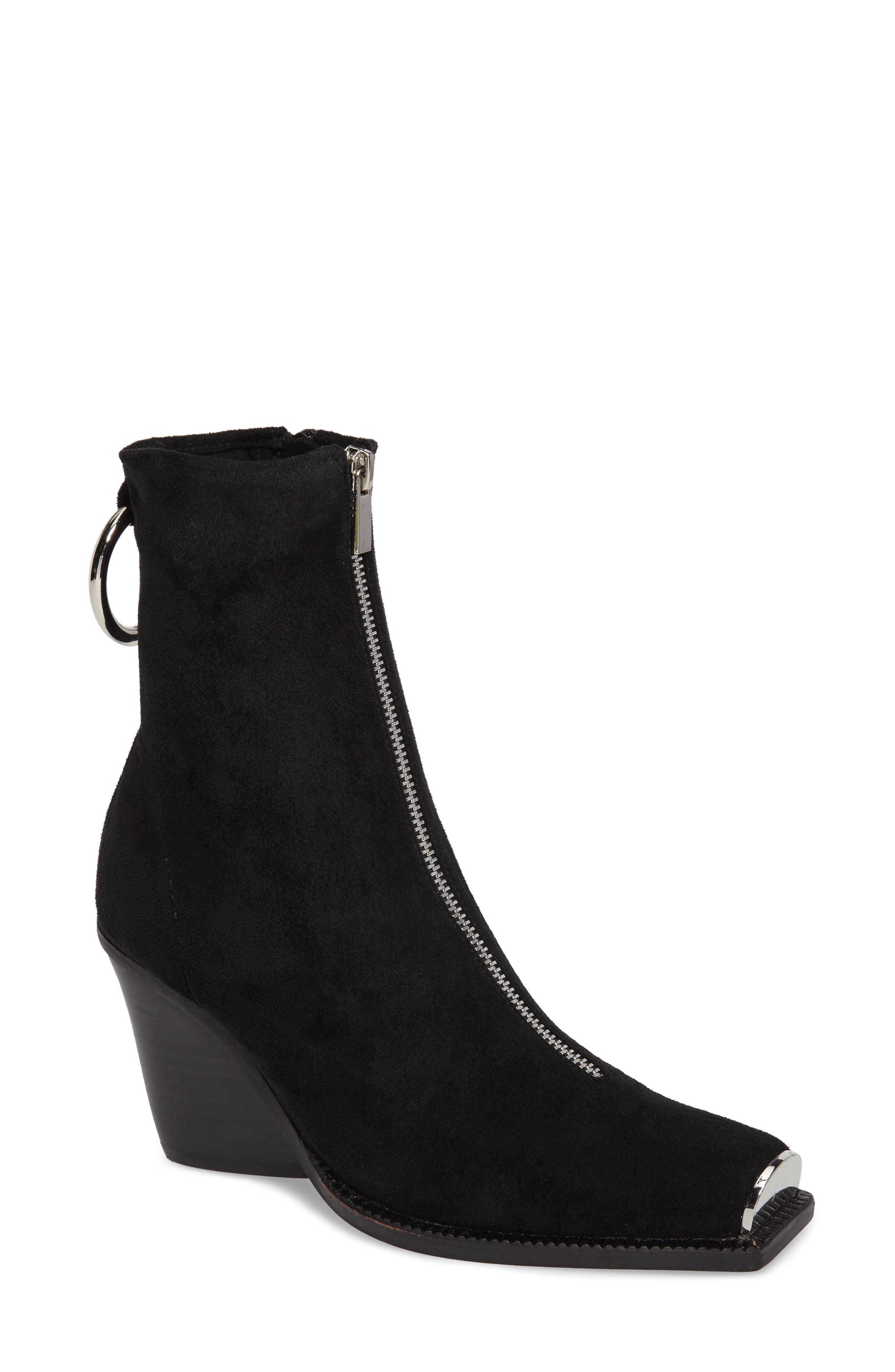 Eubank Stretch Bootie,                             Main thumbnail 1, color,                             Black Stretch Suede