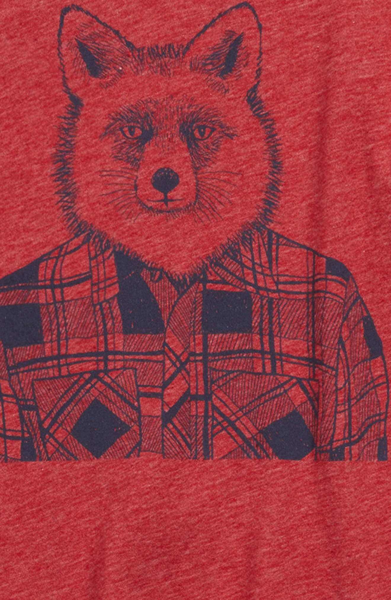 Graphic Tee,                             Alternate thumbnail 3, color,                             Red Chili Hipster Fox