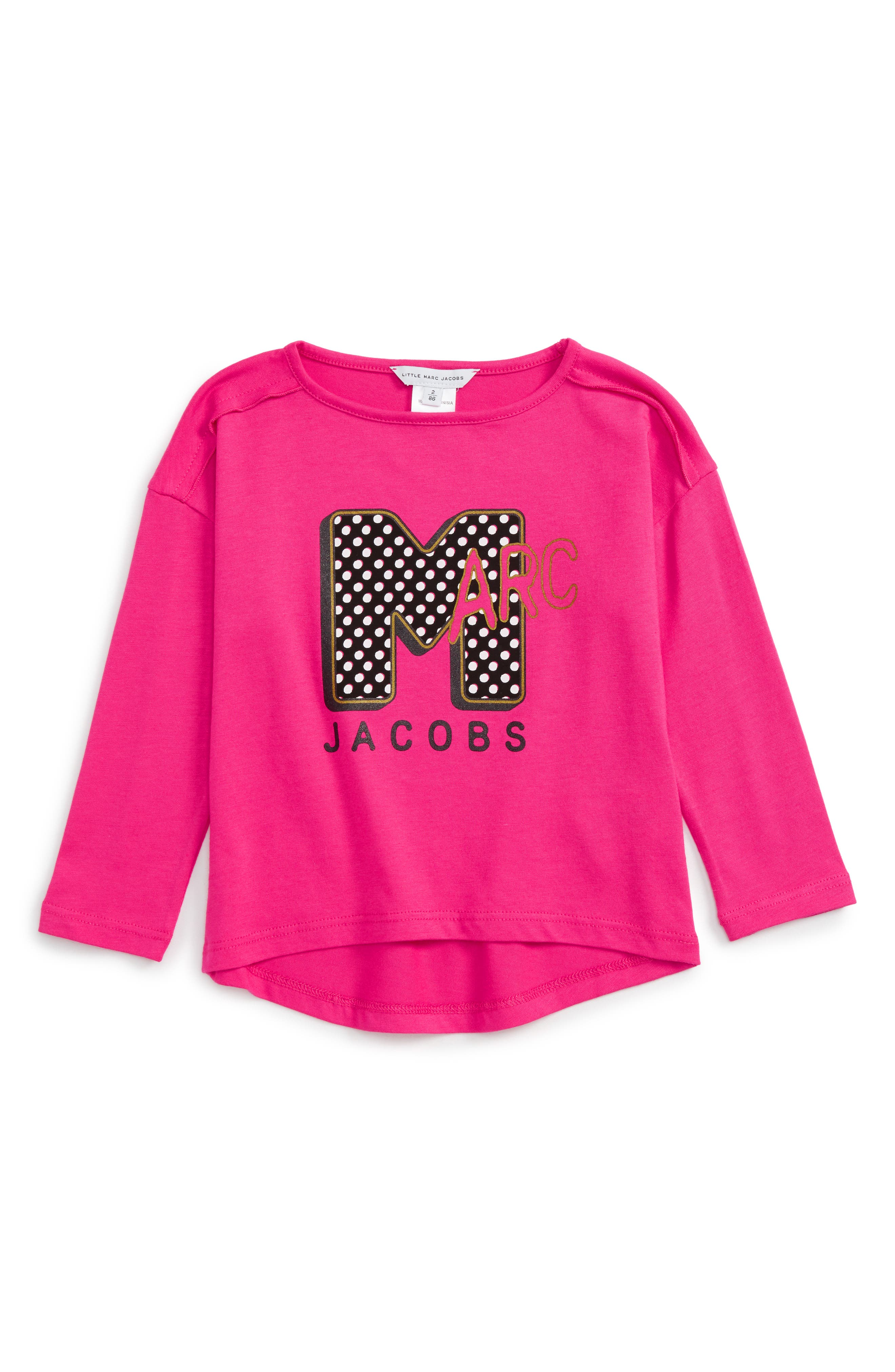Alternate Image 1 Selected - LITTLE MARC JACOBS Graphic Tee (Toddler Girls, Little Girls & Big Girls)