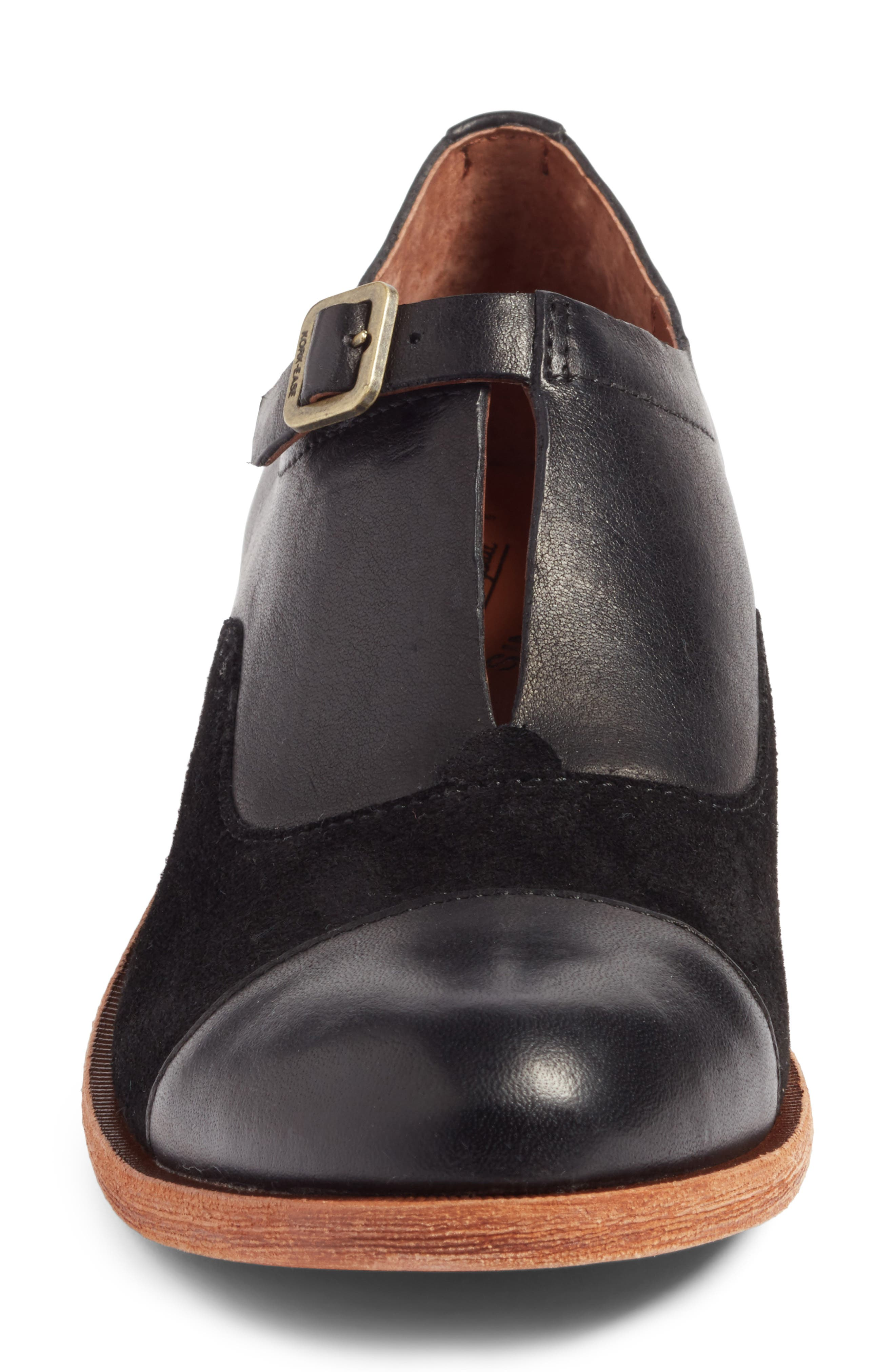'Niseda' Oxford,                             Alternate thumbnail 6, color,                             Black Leather Suede Combo