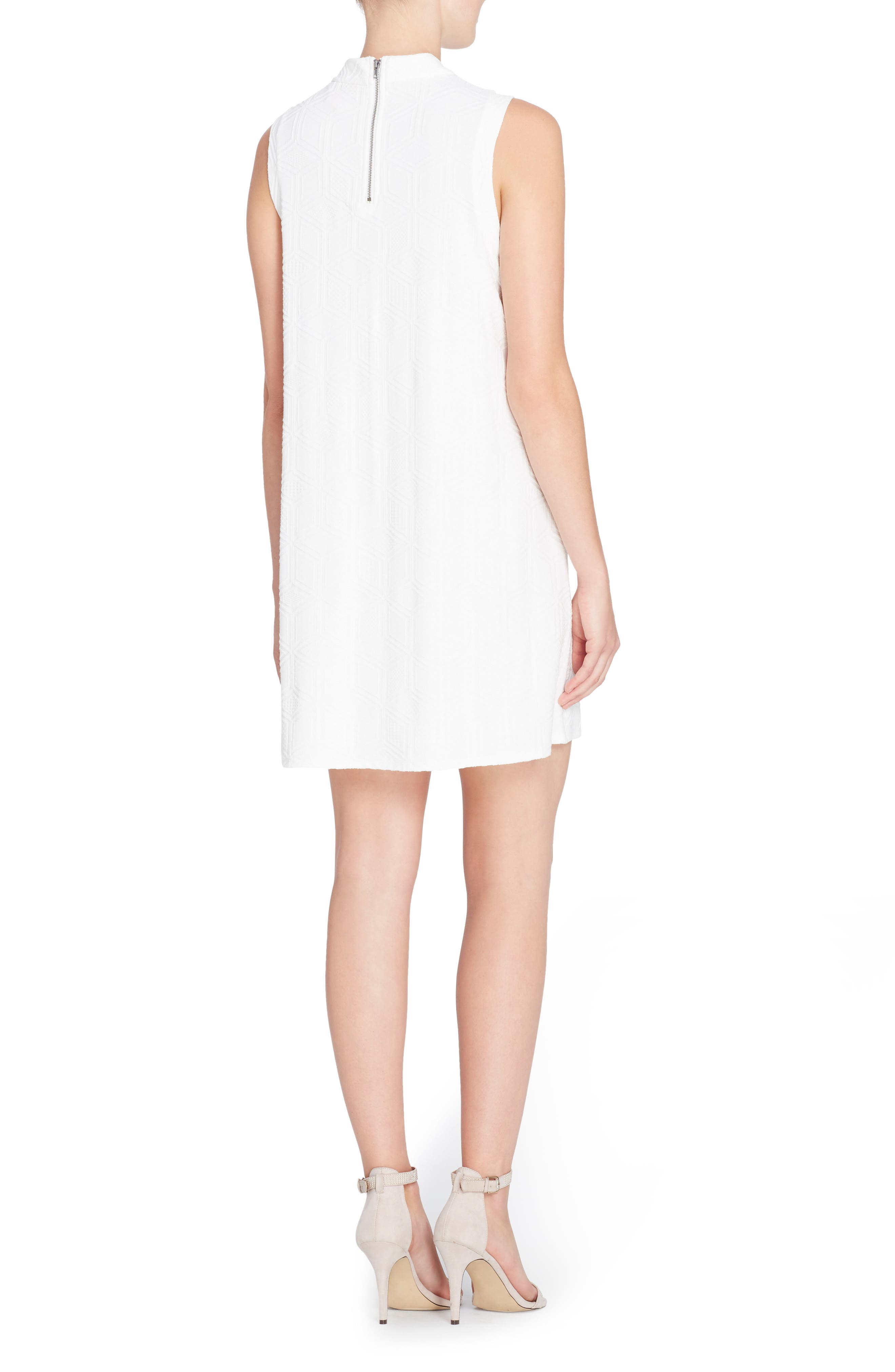 Lonni Geo Textured Dress,                             Alternate thumbnail 2, color,                             Off White