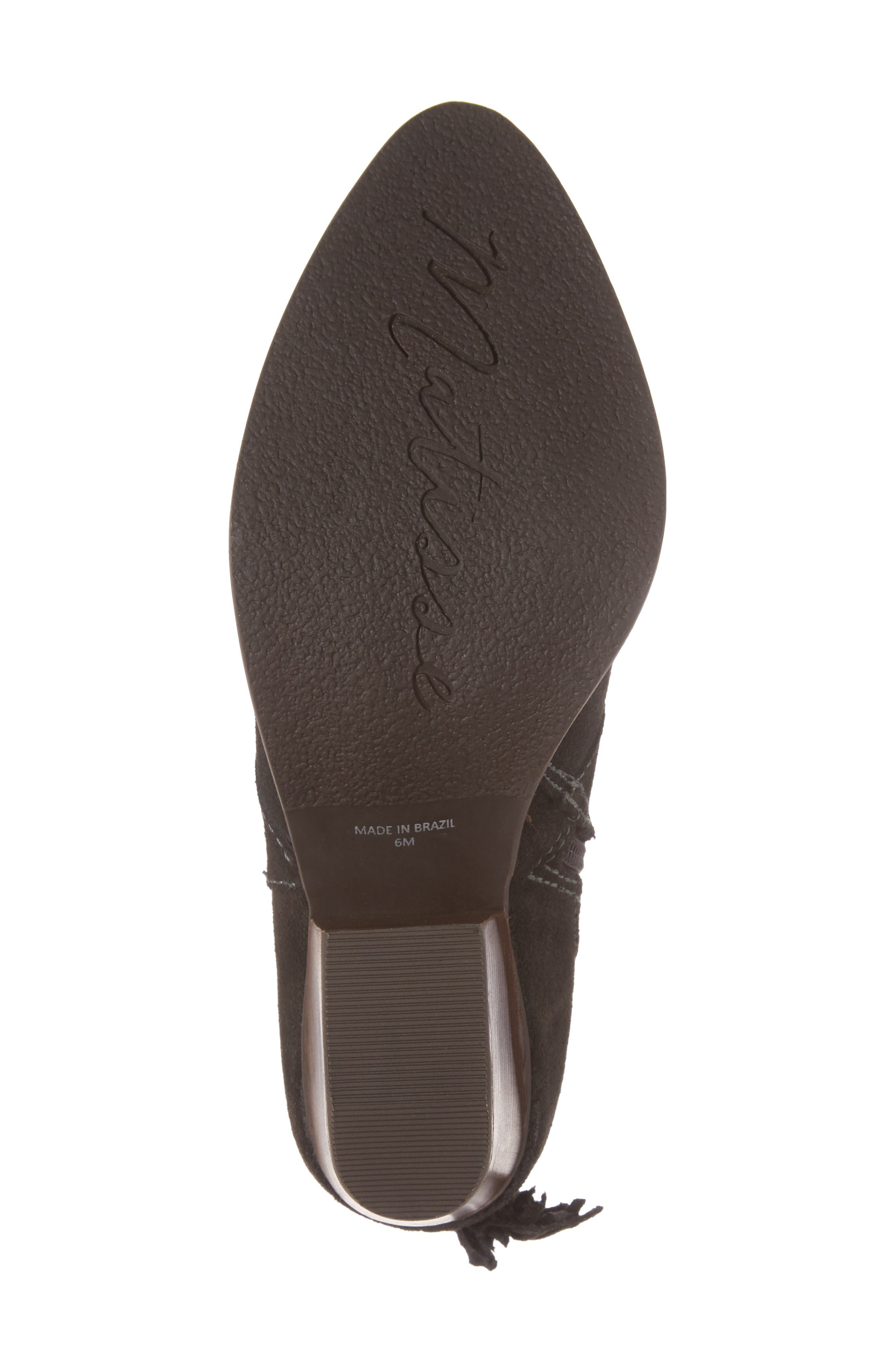 Laney Notched Heel Bootie,                             Alternate thumbnail 6, color,                             Forest Suede